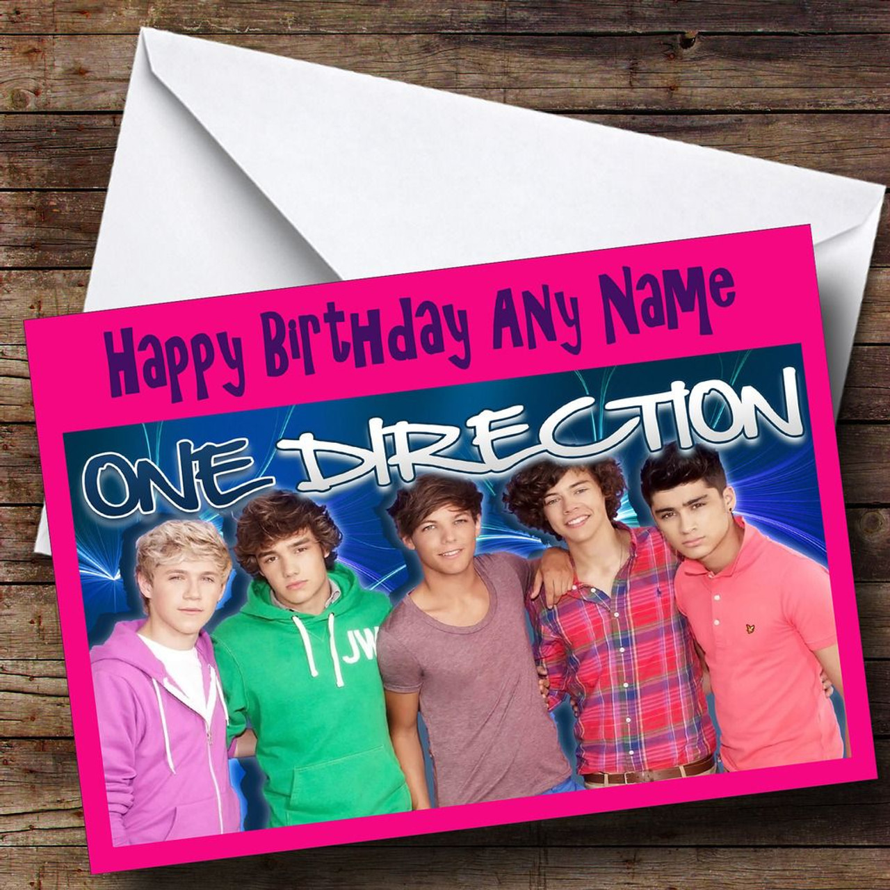One Direction Personalised Birthday Card The Card Zoo
