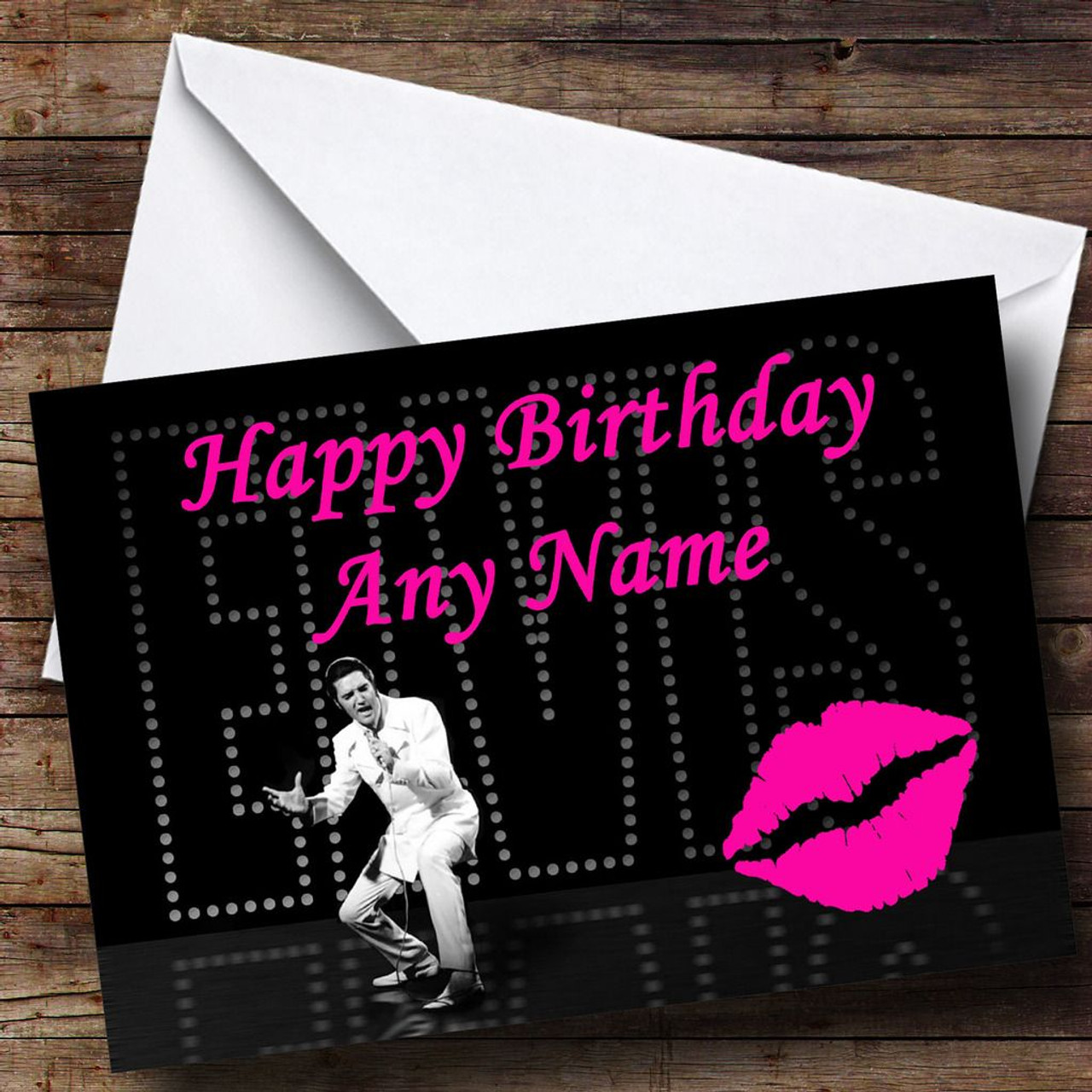 Elvis presley personalised birthday card the card zoo elvis presley personalised birthday card kristyandbryce Images
