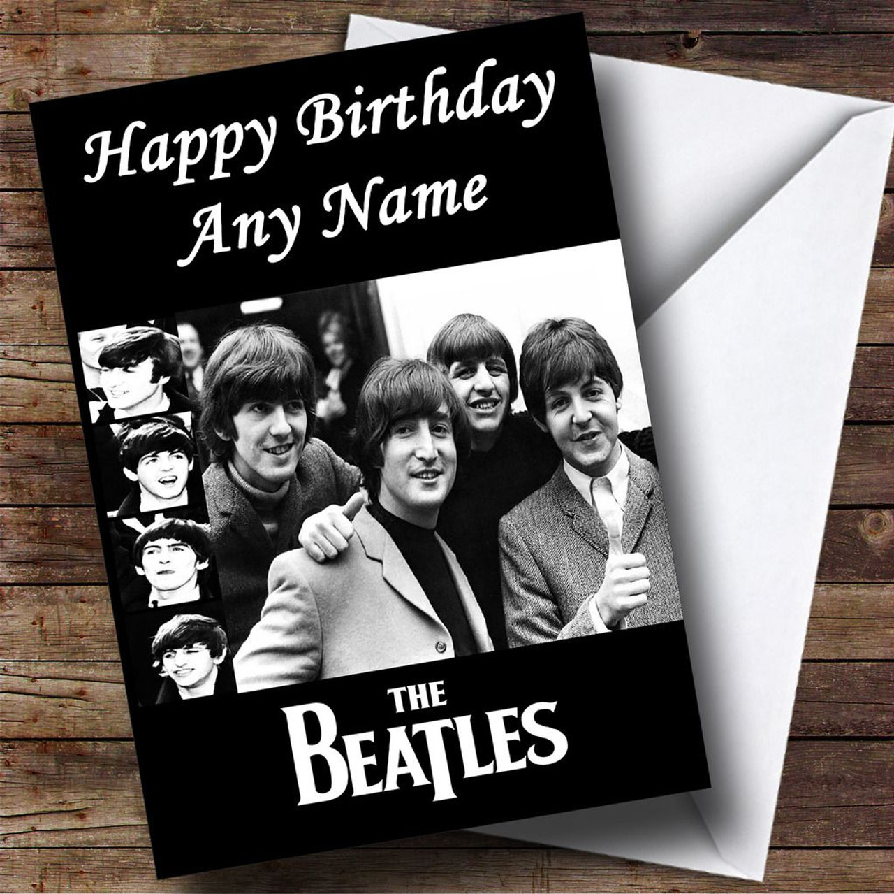 The beatles personalised birthday card the card zoo the beatles personalised birthday card bookmarktalkfo Choice Image