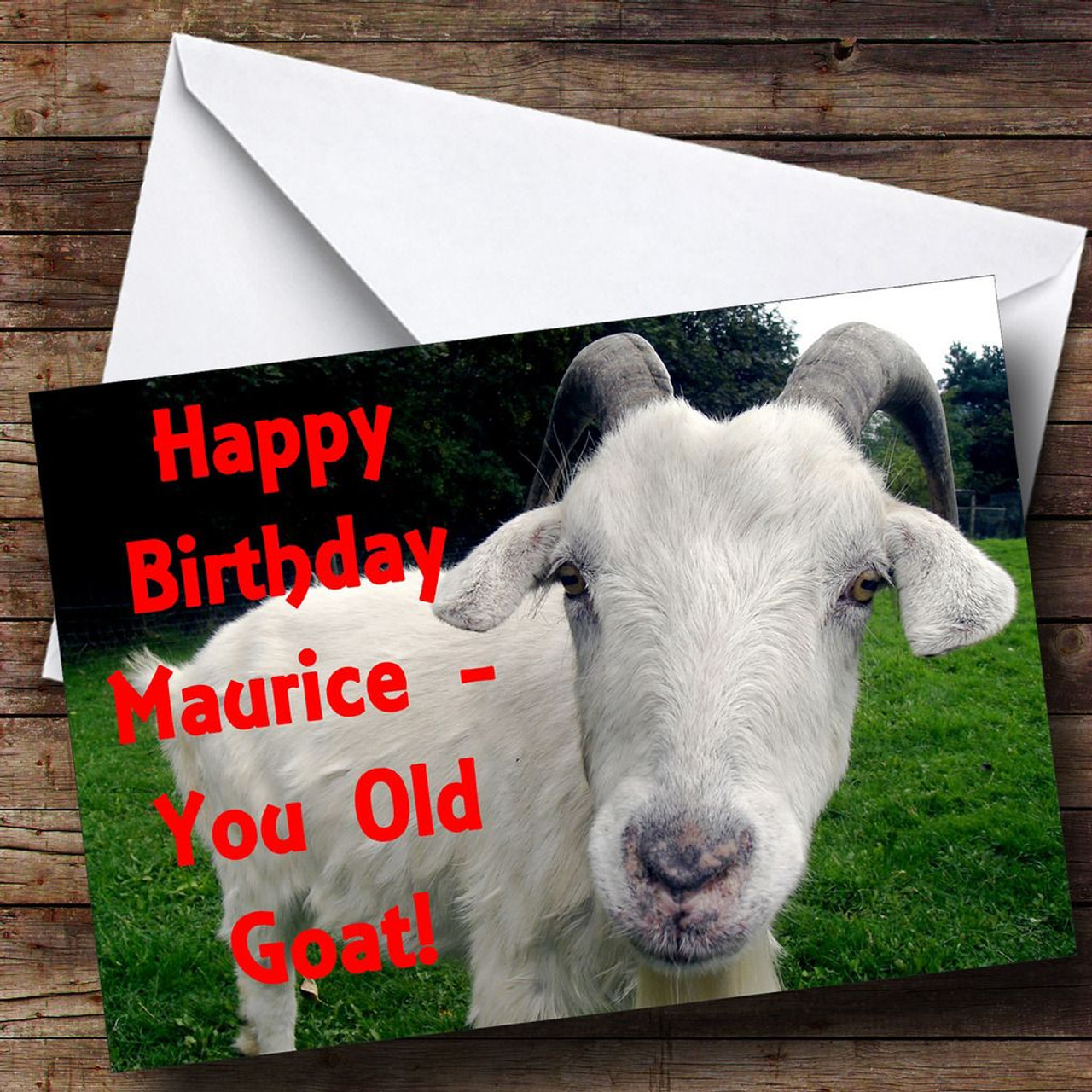 Old goat funny personalised birthday card the card zoo old goat funny personalised birthday card bookmarktalkfo Image collections