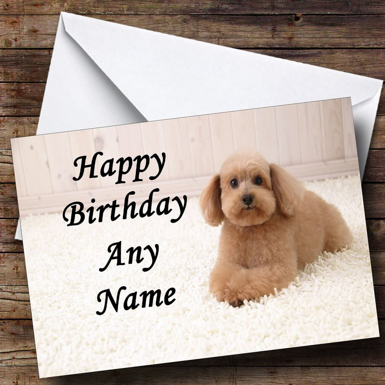 Poodle cross dog personalised birthday card the card zoo poodle cross dog personalised birthday card bookmarktalkfo Gallery