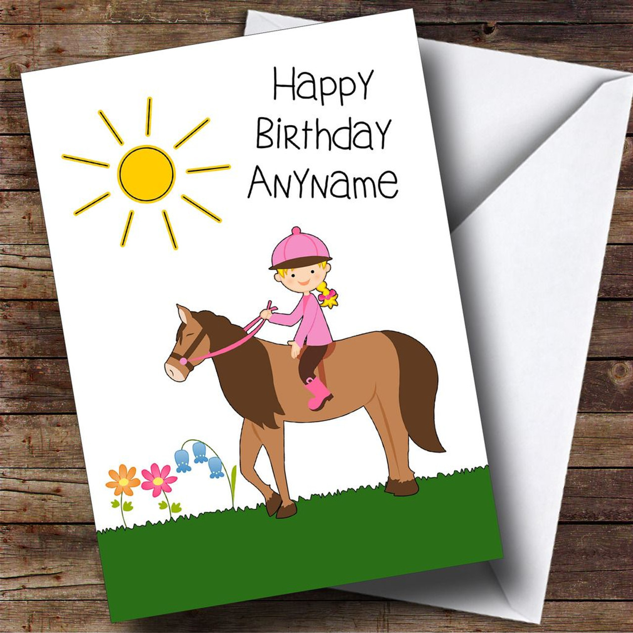 Pony horse riding boy personalised birthday card the card zoo pony horse riding girl personalised birthday card bookmarktalkfo Image collections