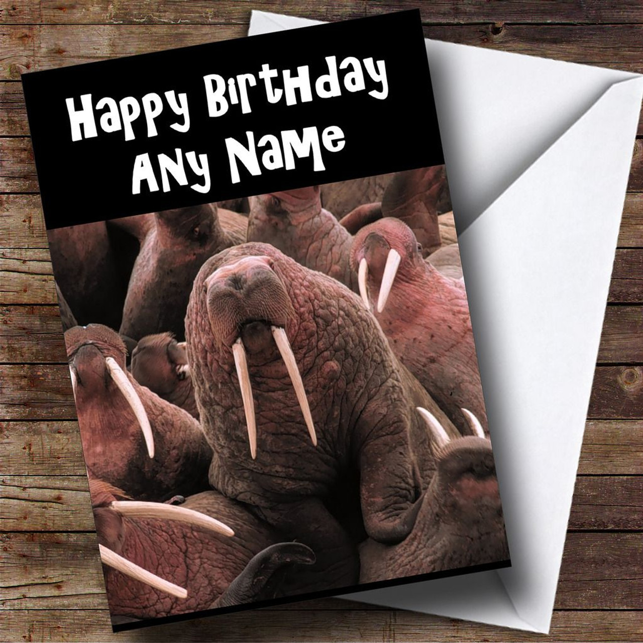 Funny Walrus Personalised Birthday Card The Card Zoo