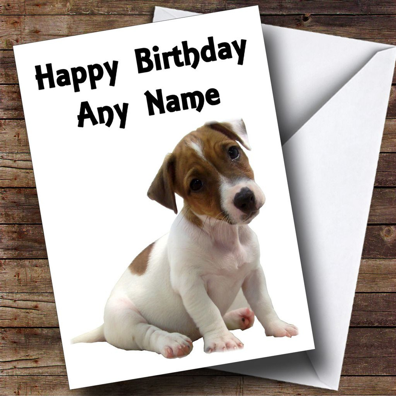 Jack russell puppy dog personalised birthday card the card zoo jack russell puppy dog personalised birthday card bookmarktalkfo Image collections