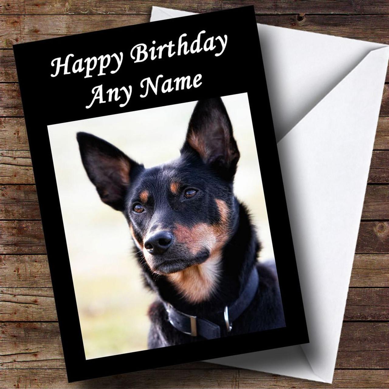 Australian kelpie dog personalised birthday card the card zoo australian kelpie dog personalised birthday card kristyandbryce Images