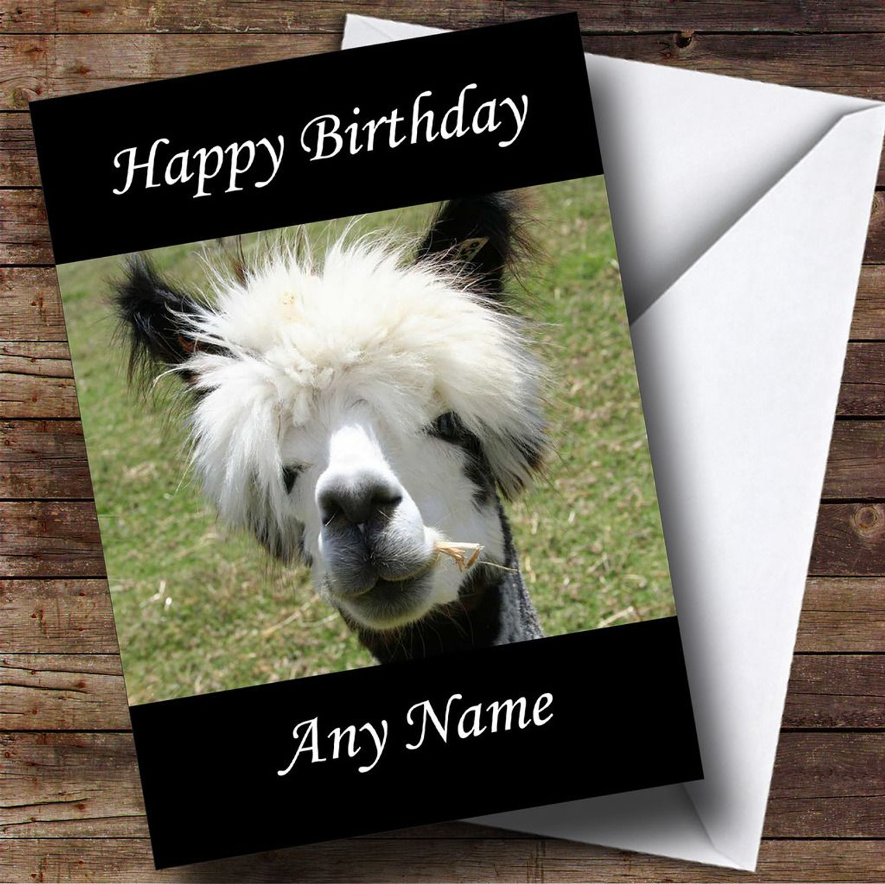 Personalised cards birthday cards animals wildlife pets cards funny alpaca personalised birthday card bookmarktalkfo