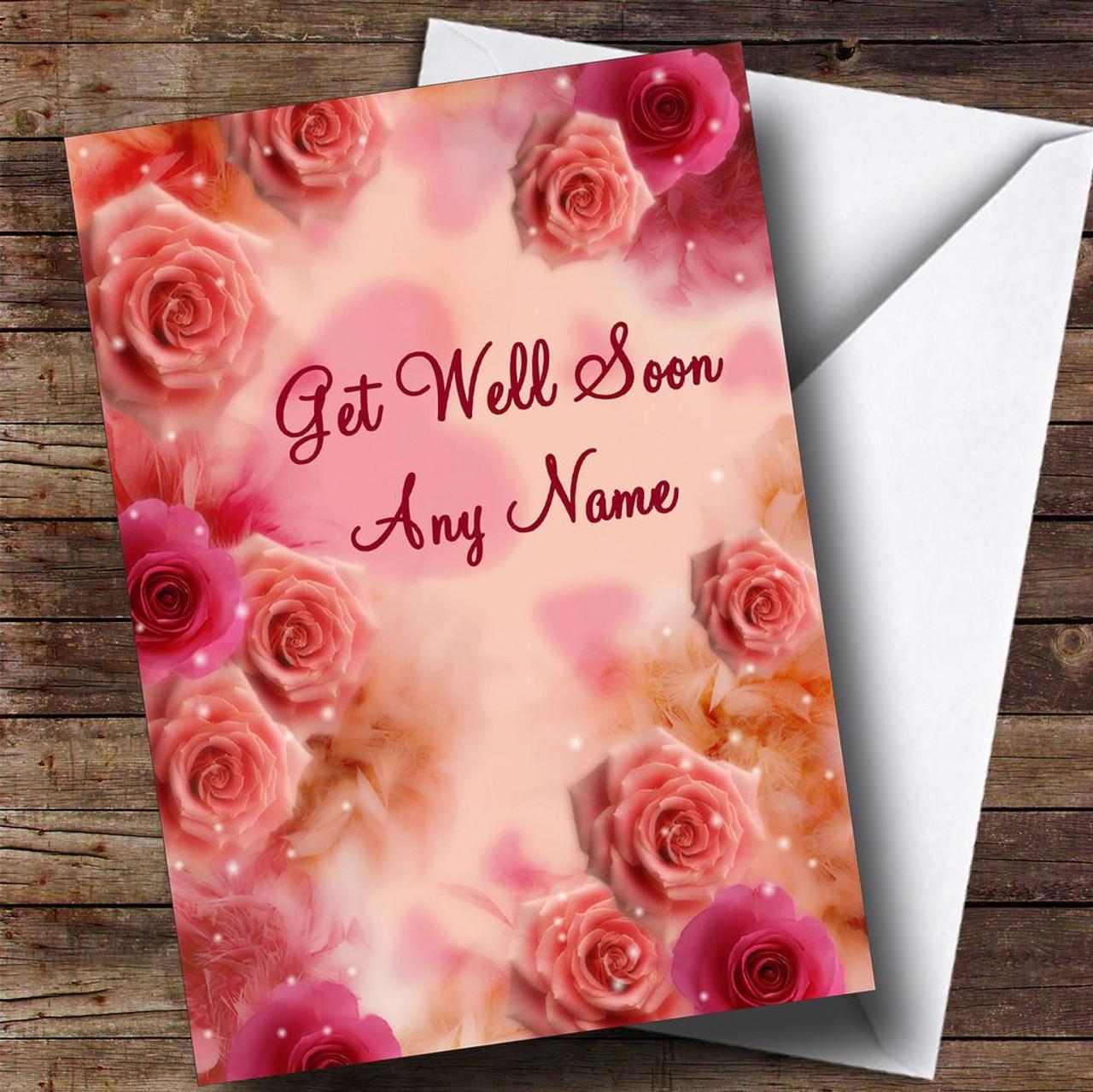Pretty pink flowers personalised get well soon card the card zoo pretty pink flowers personalised get well soon card mightylinksfo