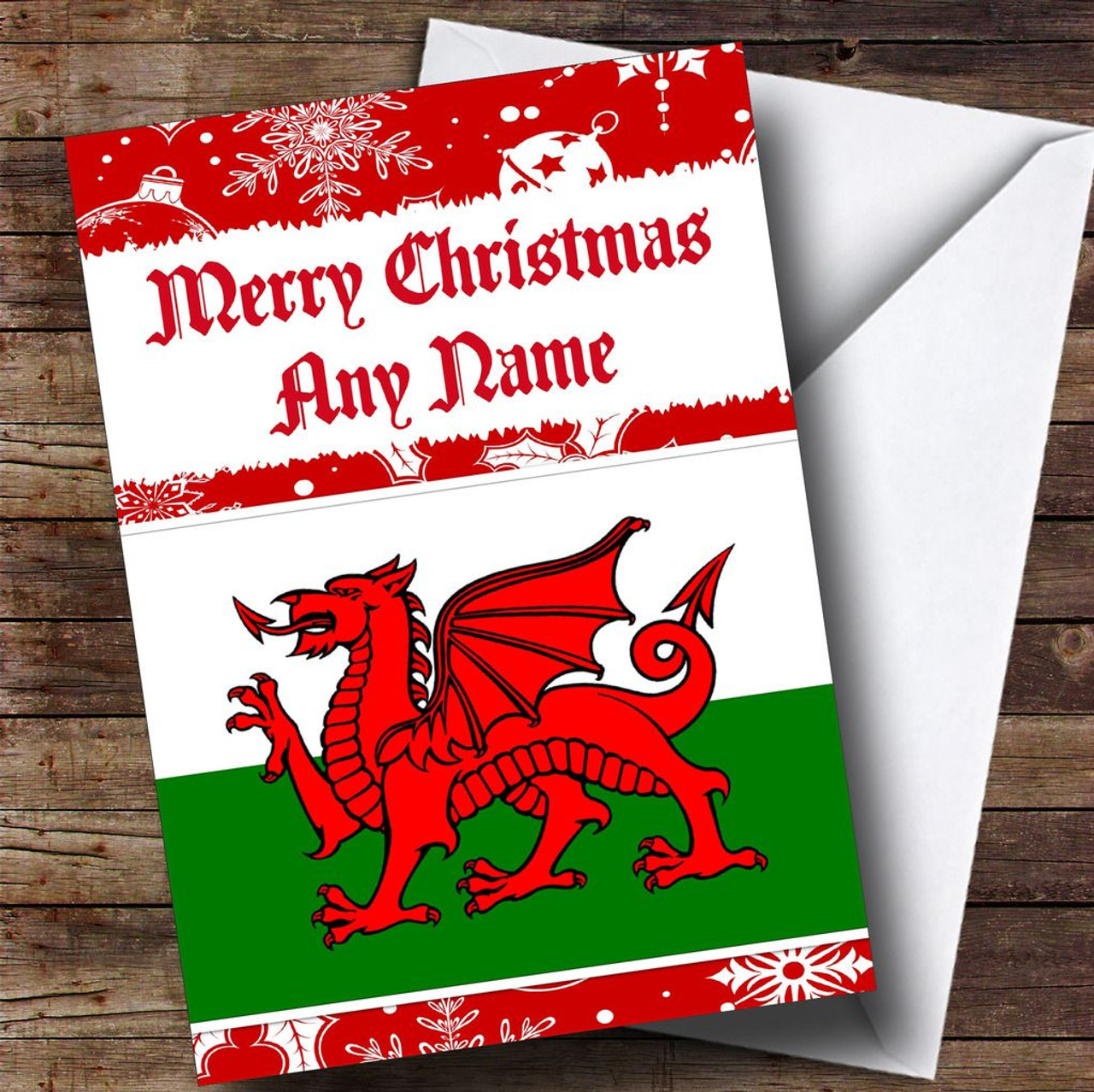 Welsh flag personalised christmas card the card zoo welsh flag personalised christmas card kristyandbryce Image collections