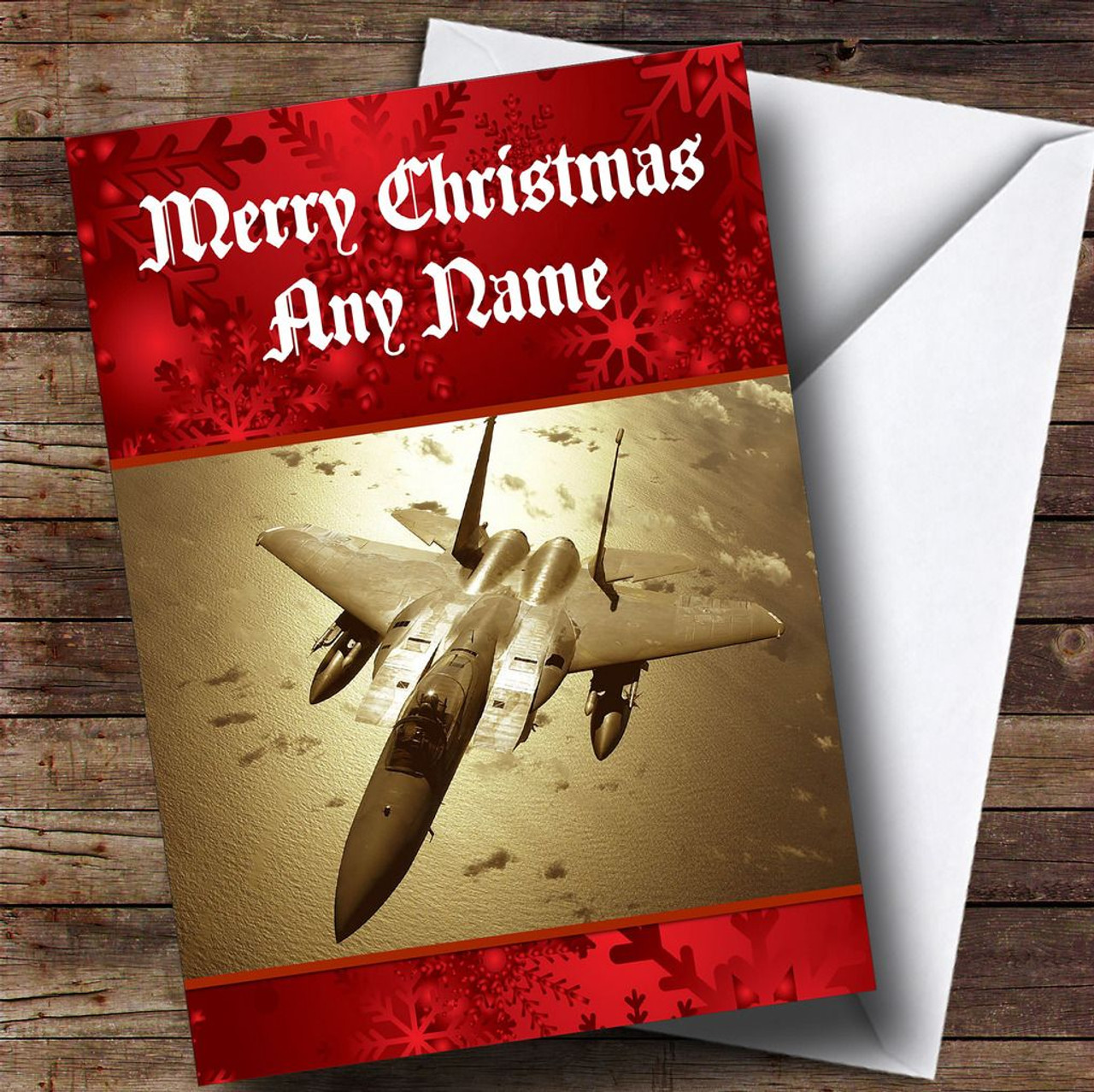Plane Personalised Christmas Card - The Card Zoo