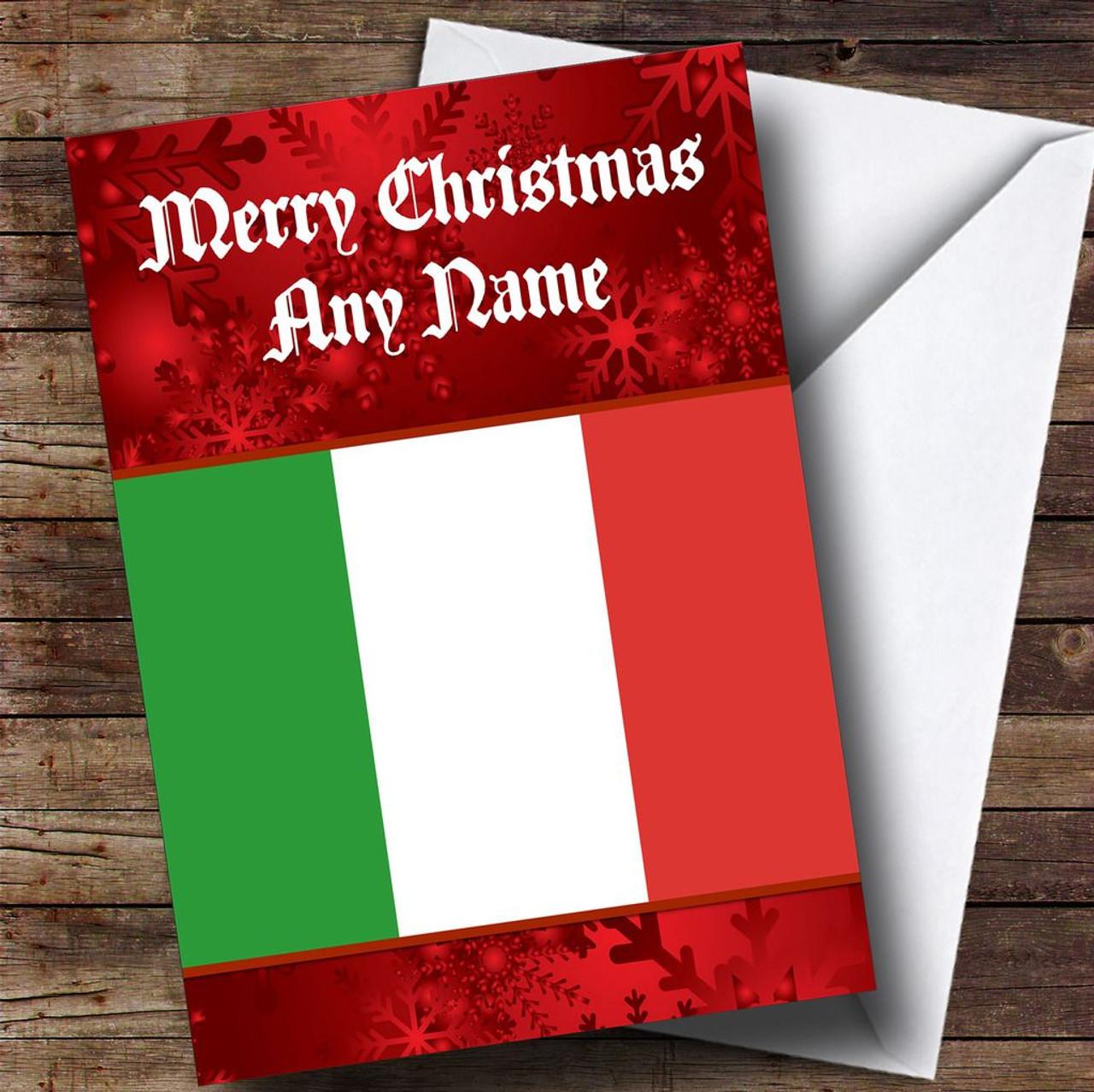 Italian flag italy personalised christmas card the card zoo italian flag italy personalised christmas card m4hsunfo