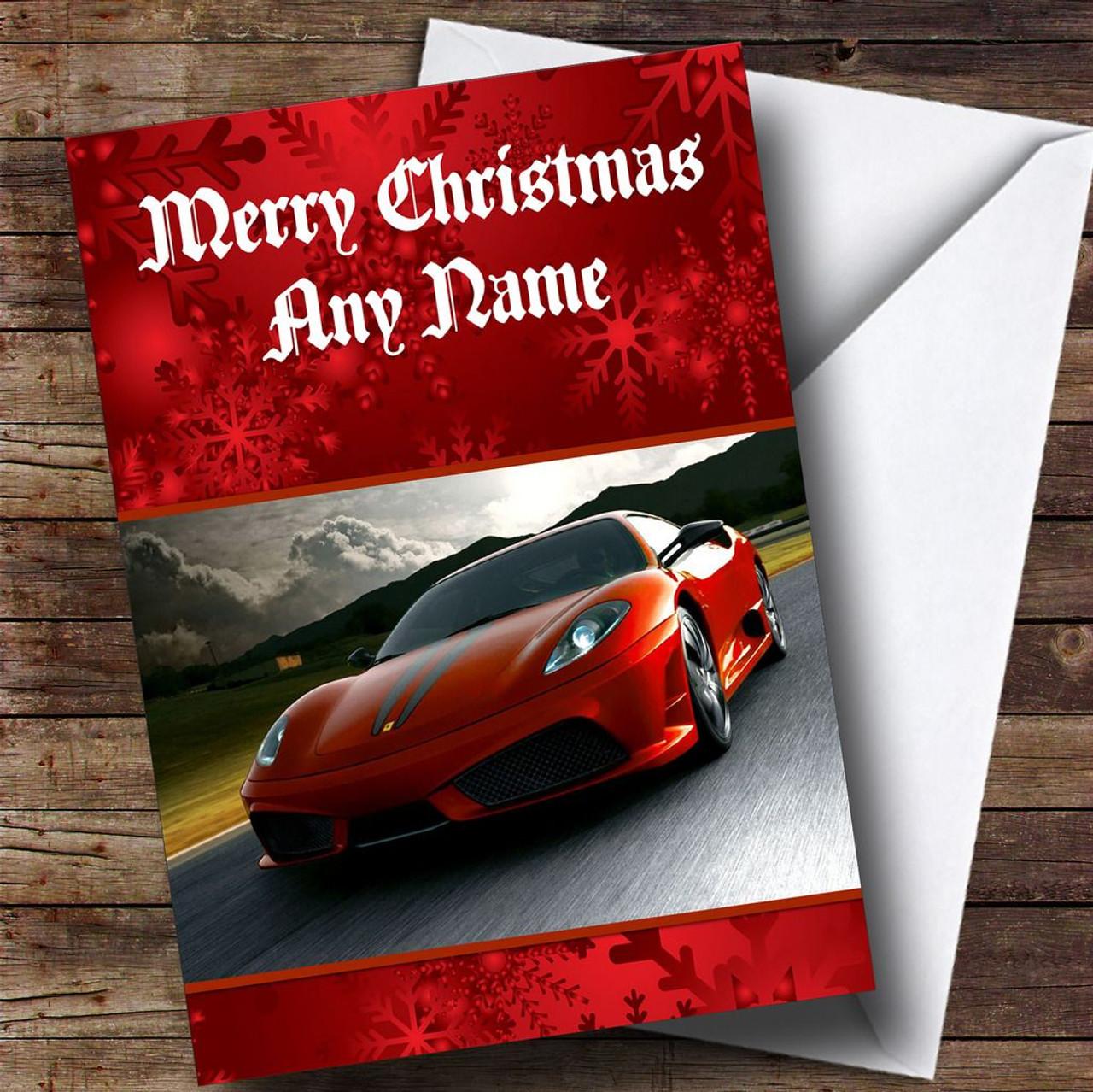 Ferrari personalised christmas card the card zoo for Ferrari christmas