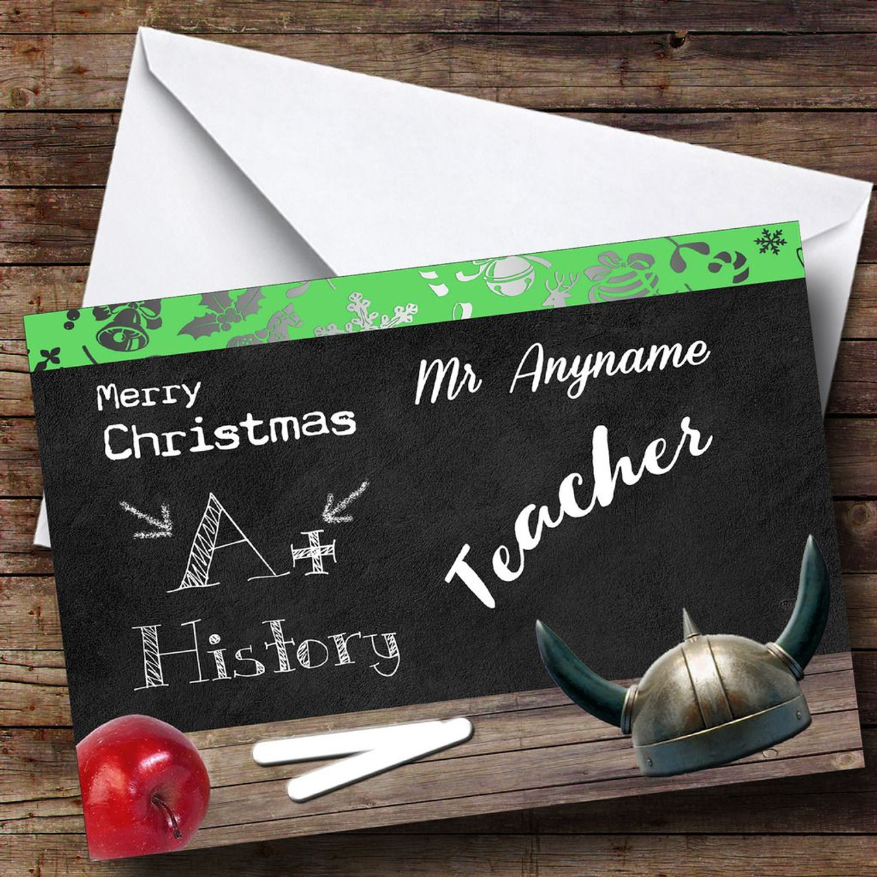 History teacher personalised christmas card the card zoo history teacher personalised christmas card kristyandbryce Image collections