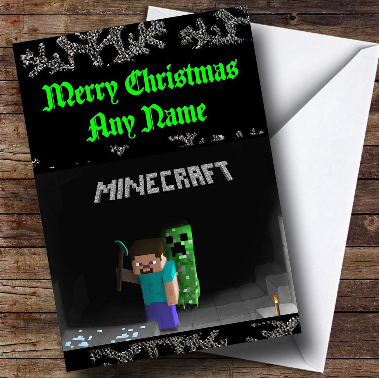 Minecraft personalised christmas card the card zoo minecraft personalised christmas card kristyandbryce Images
