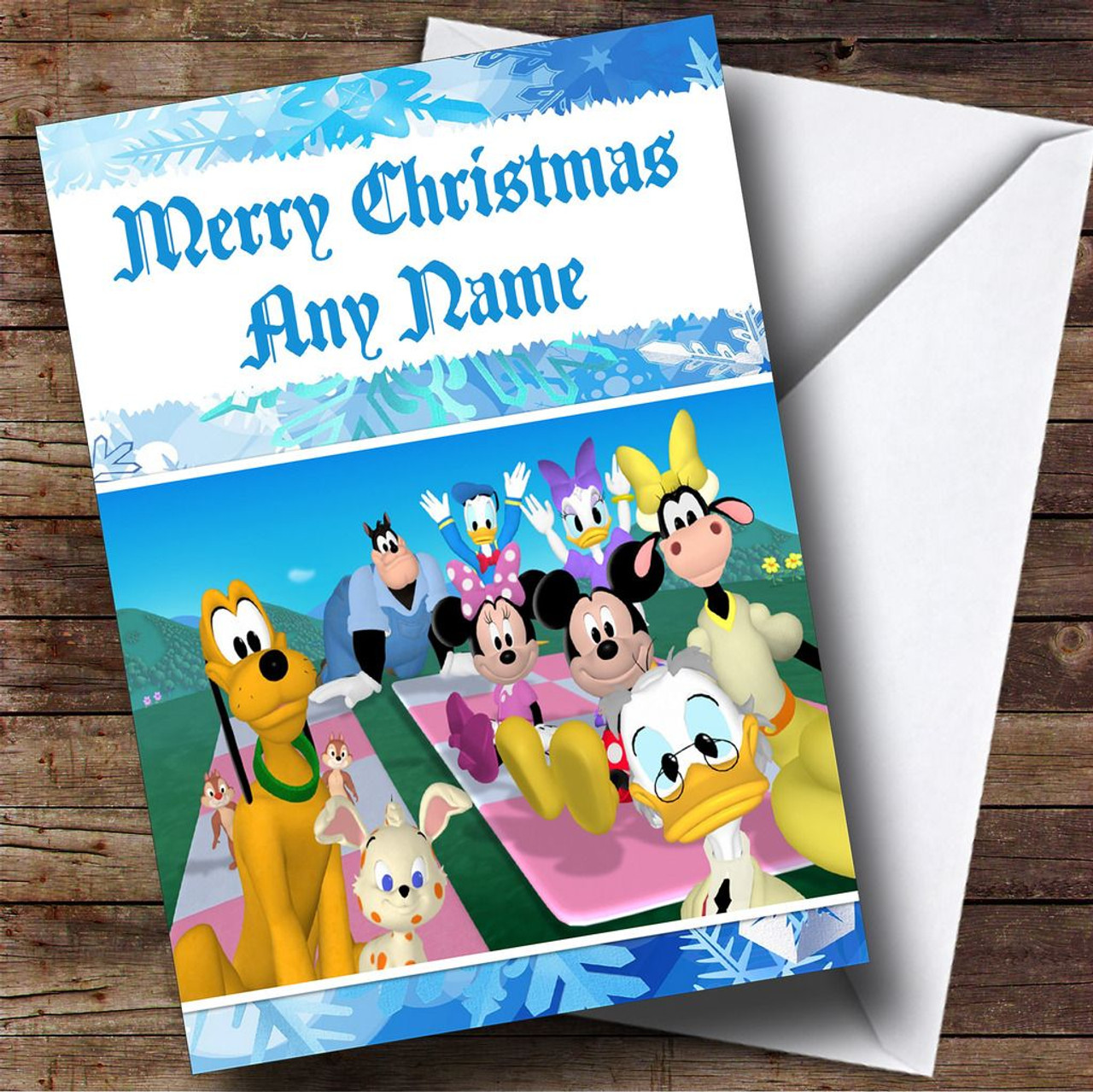 Mickey Mouse Clubhouse Personalised Christmas Card - The Card Zoo