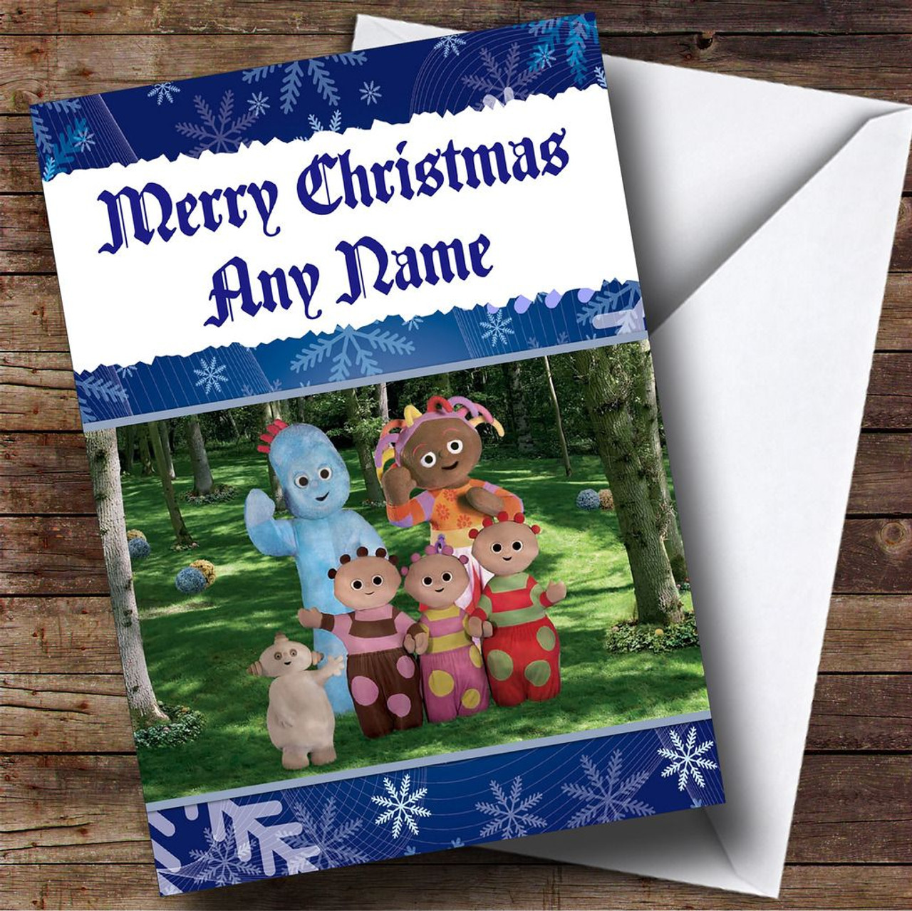Personalised cards christmas cards childrens christmas cards in the night garden personalised christmas card kristyandbryce Images