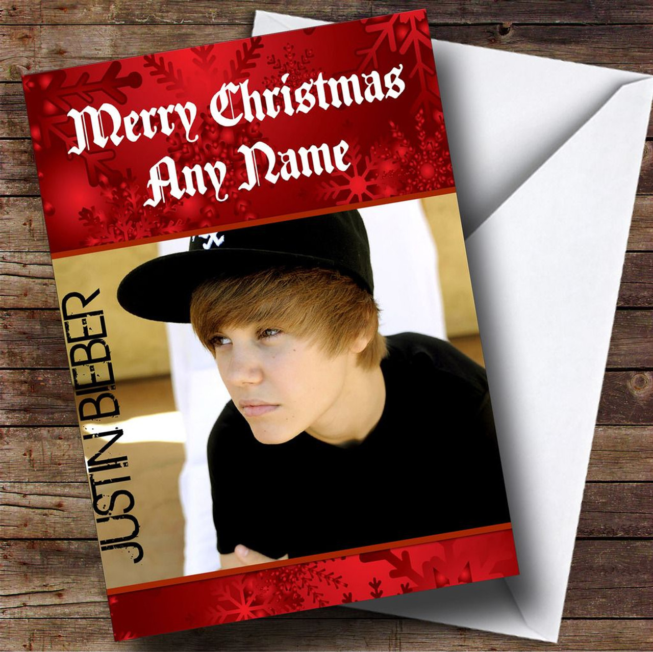 Justin Bieber Personalised Christmas Card - The Card Zoo