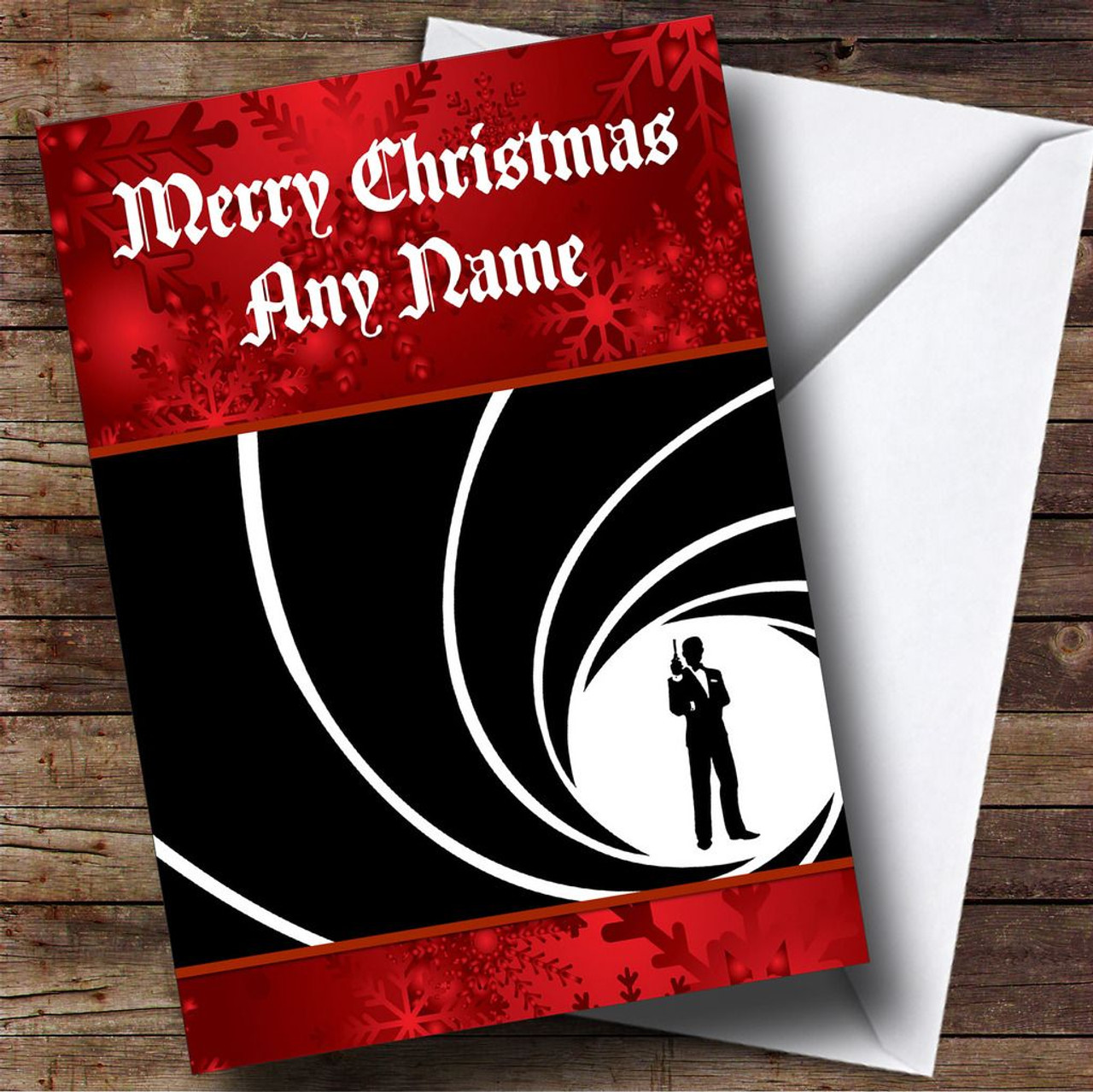James bond personalised christmas card the card zoo james bond personalised christmas card kristyandbryce Image collections