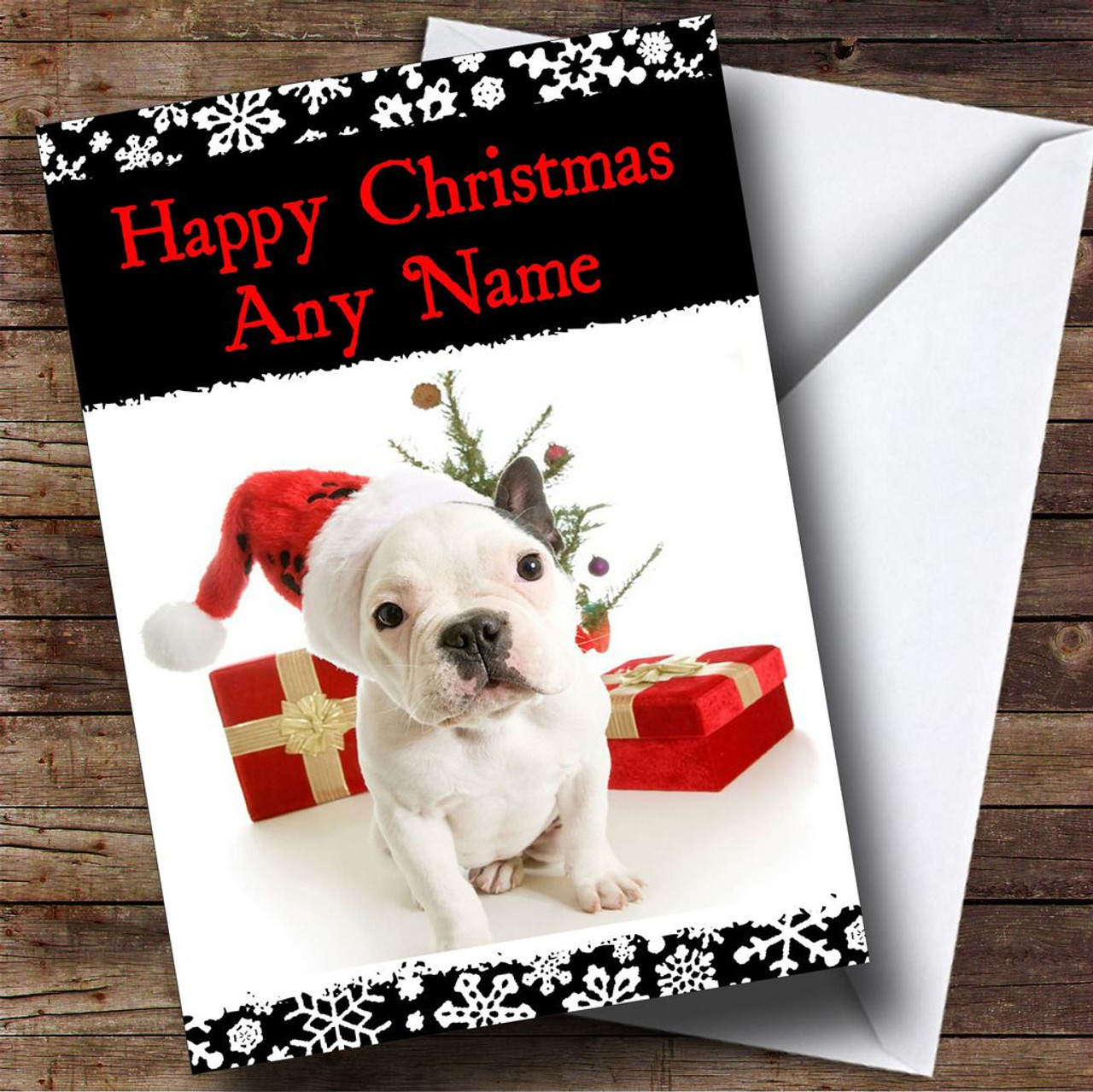 Adorable Dog Christmas Card Personalised - The Card Zoo