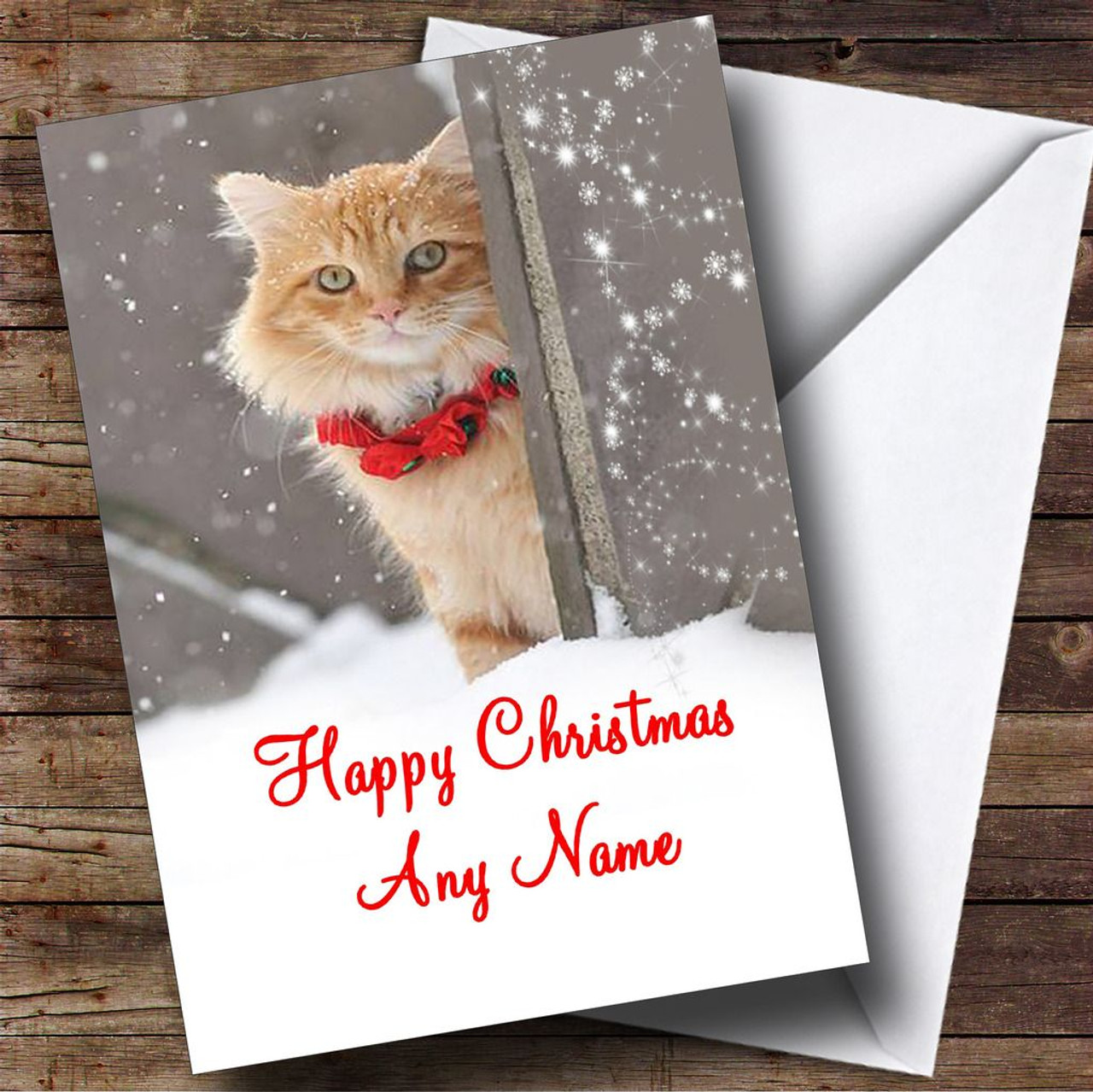 Ginger cat christmas card personalised the card zoo ginger cat christmas card personalised m4hsunfo
