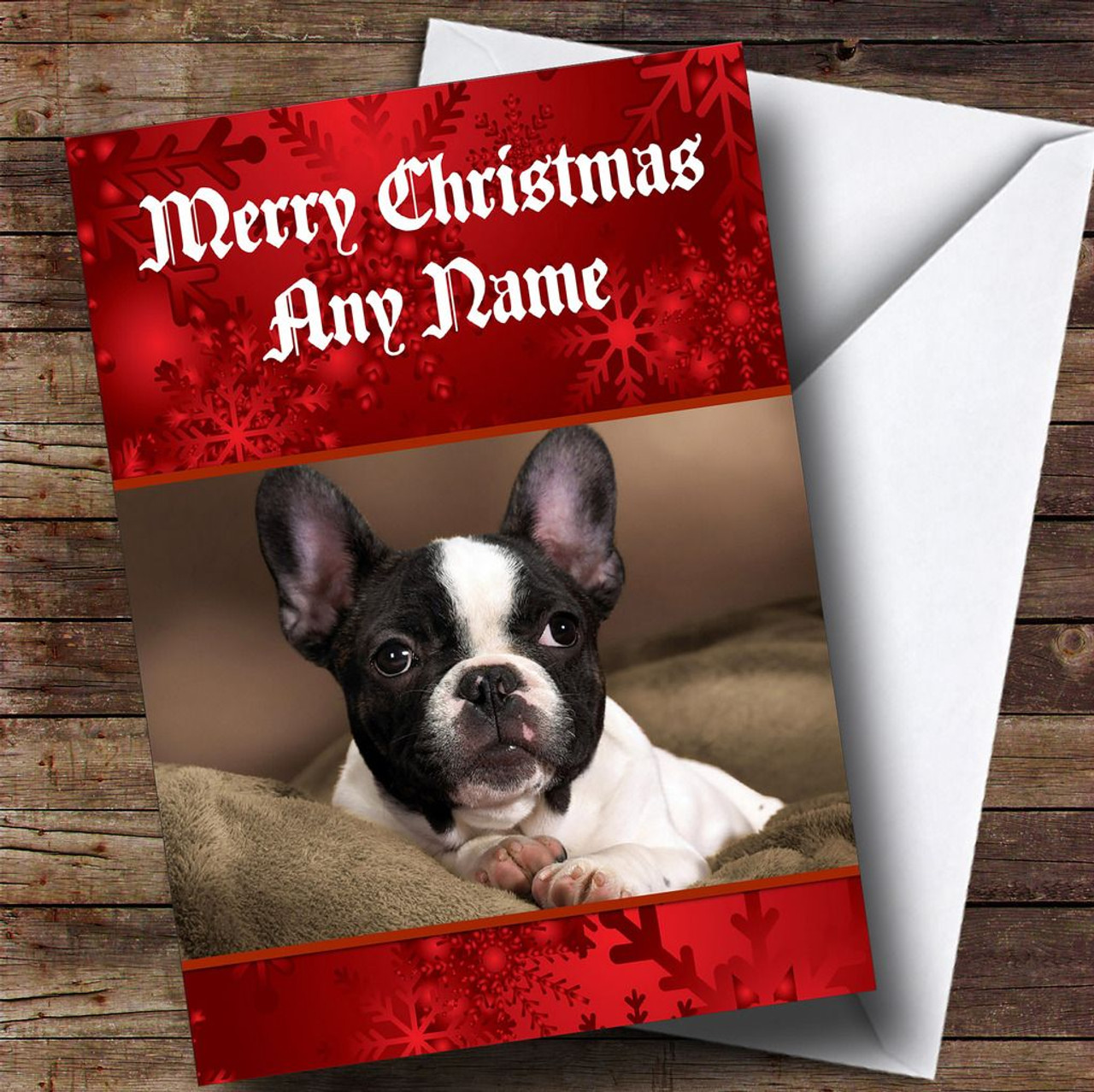 French Bulldog Personalised Christmas Card - The Card Zoo