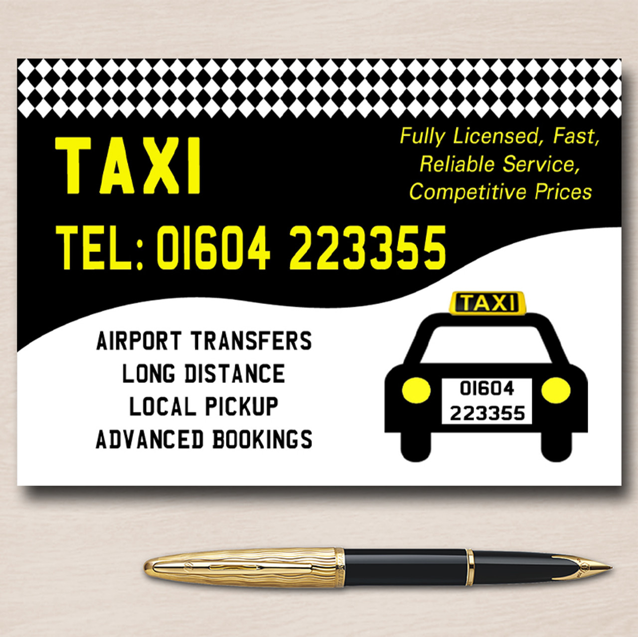 Taxi black cab personalised business cards taxi black cab personalised business cards colourmoves
