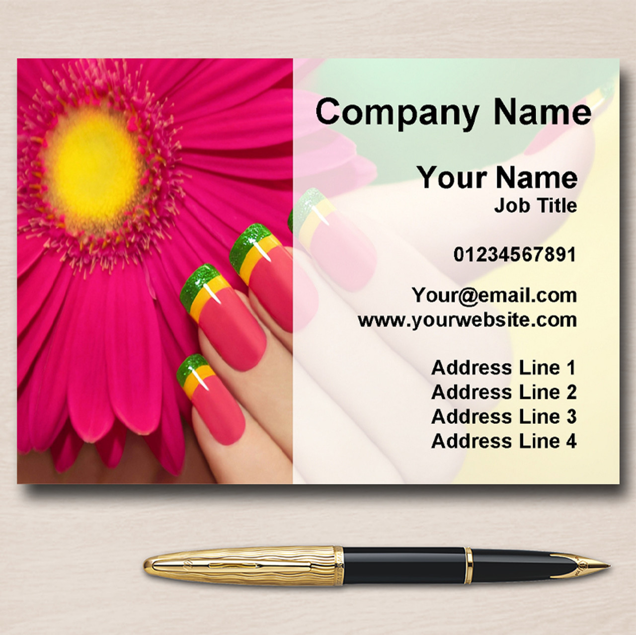 Nail Manicure Pedicure Beauty Salon Personalised Business Cards ...