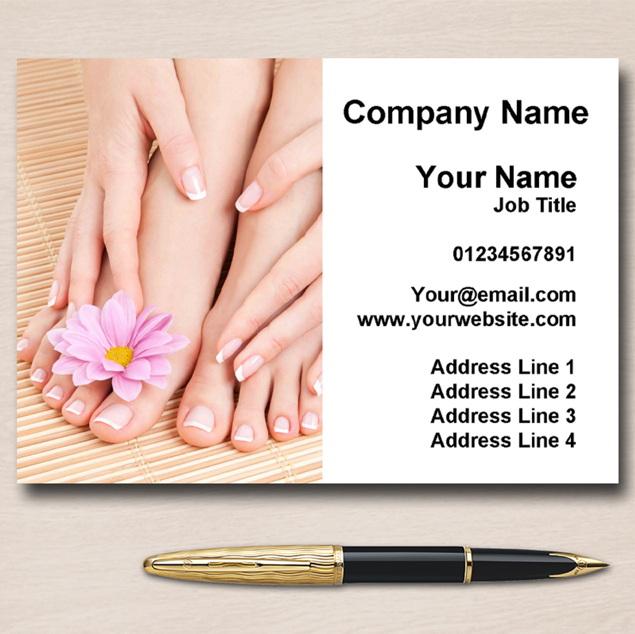 Nail Pedicure Manicure Salon Personalised Business Cards - The Card Zoo