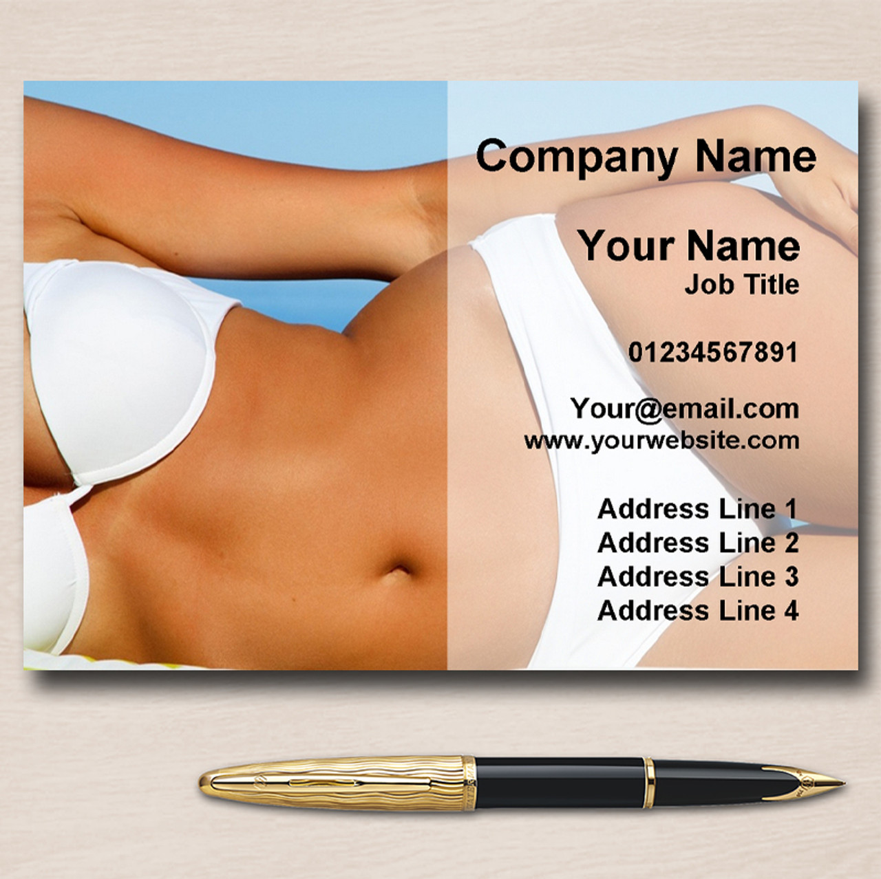 Tanning Spray Tan Sunbed Waxing Personalised Business Cards - The ...