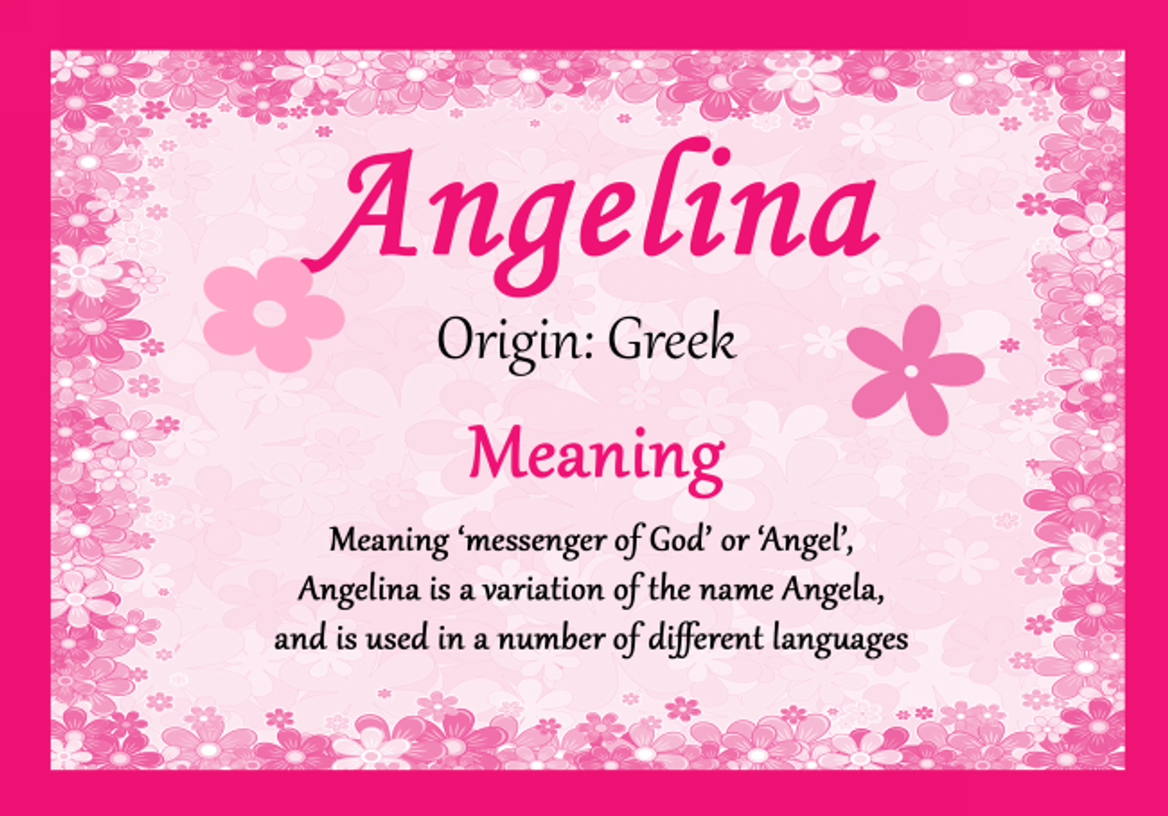 Angelina personalised name meaning certificate the card zoo angelina personalised name meaning certificate stopboris Image collections