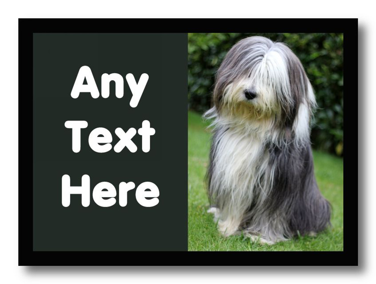 Bearded Collie Dog Personalised Computer Mousemat The