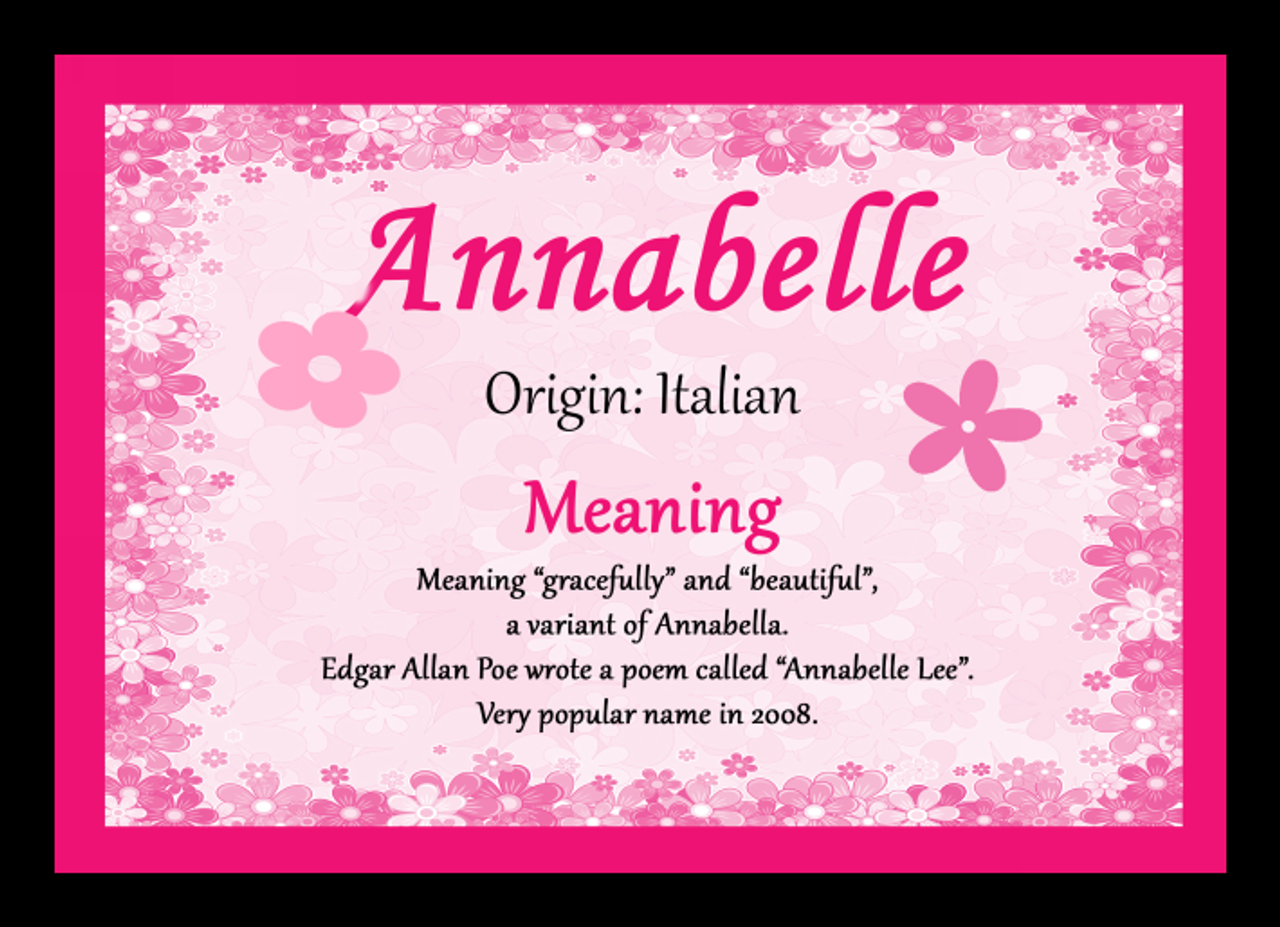 Annabelle personalised name meaning mousemat the card zoo annabelle personalised name meaning mousemat stopboris Images