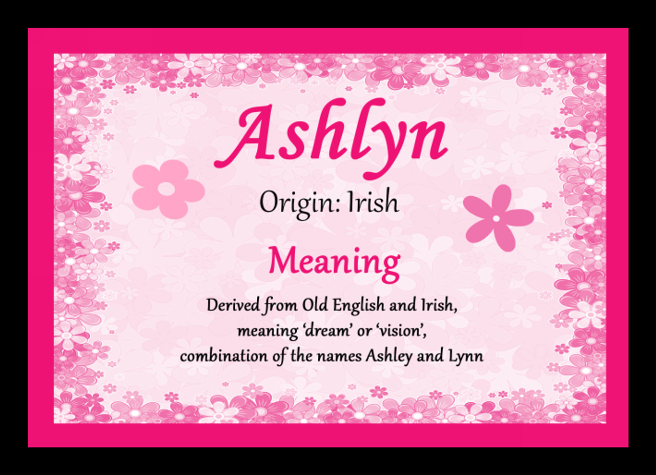 Ashlyn Personalised Name Meaning Mousemat