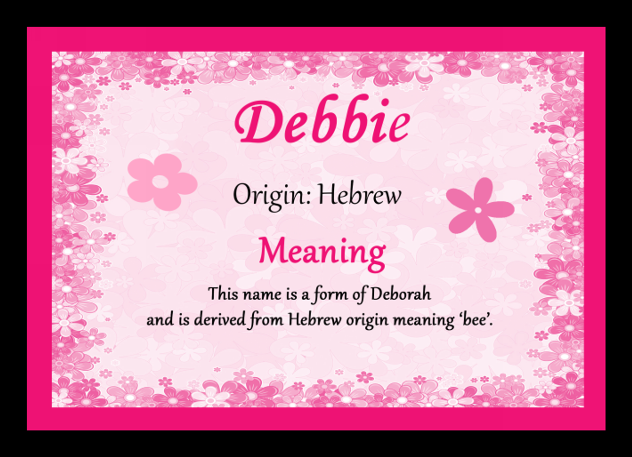 Debbie Personalised Name Meaning Mousemat The Card Zoo