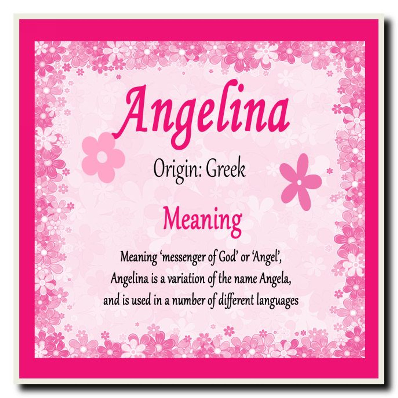 Angelina personalised name meaning coaster the card zoo angelina personalised name meaning coaster stopboris Images