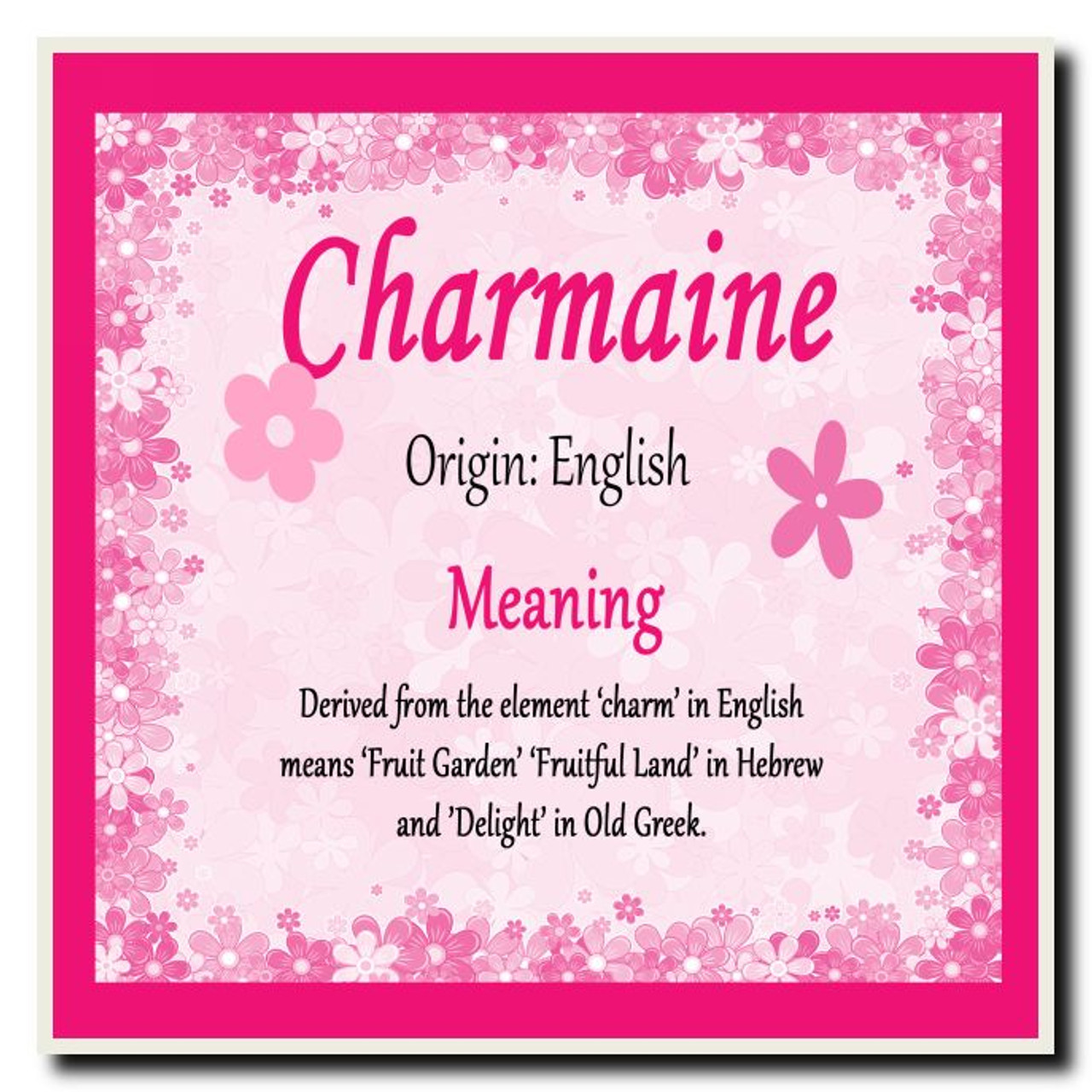 Charmaine personalised name meaning coaster the card zoo charmaine personalised name meaning coaster stopboris Image collections
