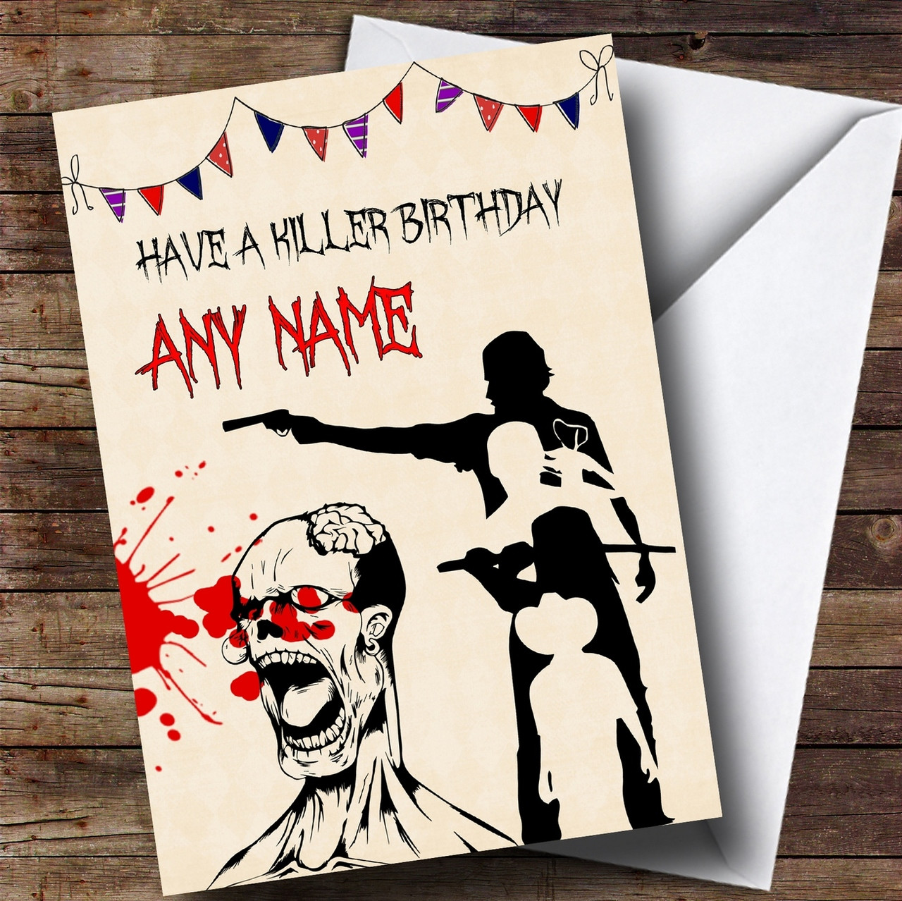 The walking dead zombie personalised birthday card the card zoo the walking dead zombie personalised birthday card m4hsunfo