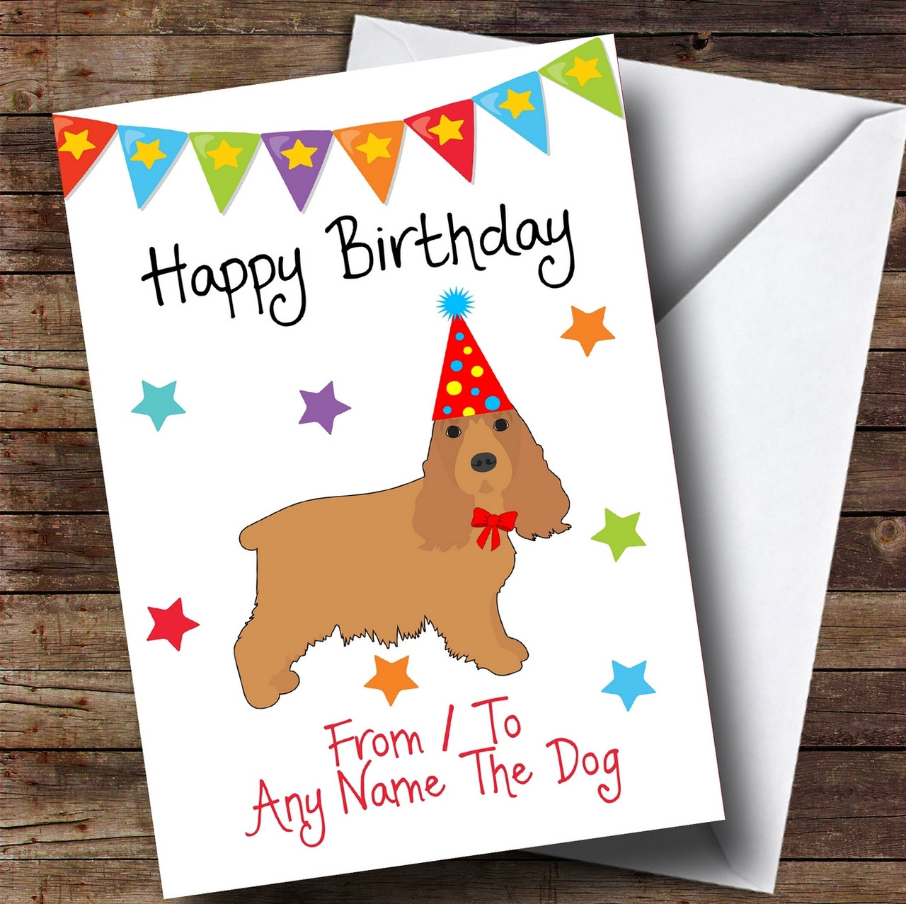 To from dog cocker spaniel personalised birthday card the card zoo to from dog cocker spaniel personalised birthday card bookmarktalkfo Images