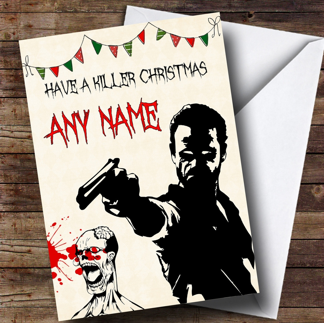 Killer rick grimes the walking dead personalised christmas card killer rick grimes the walking dead personalised christmas card m4hsunfo