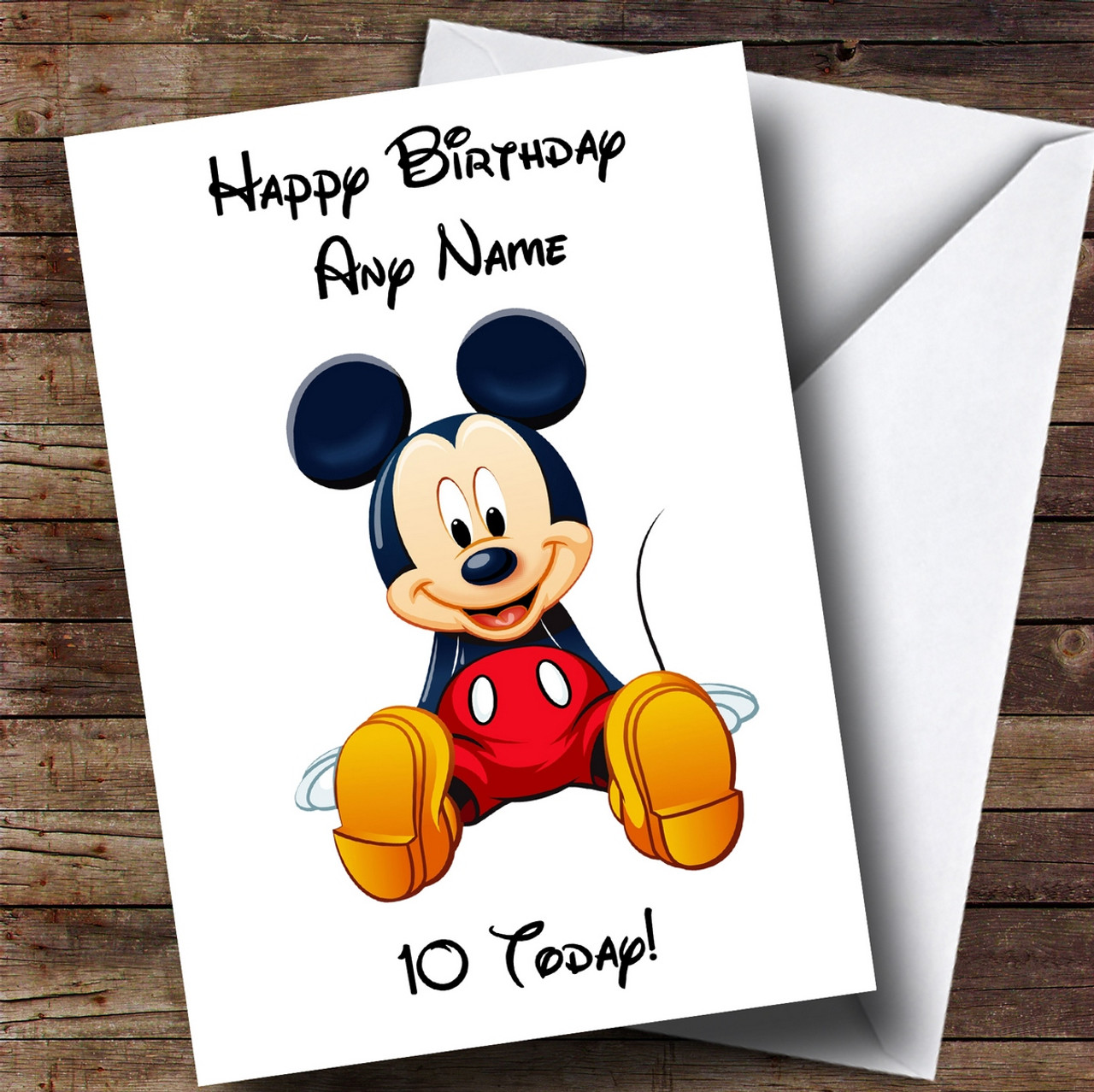 Personalised Disney Minnie Mouse White Childrens Birthday Card