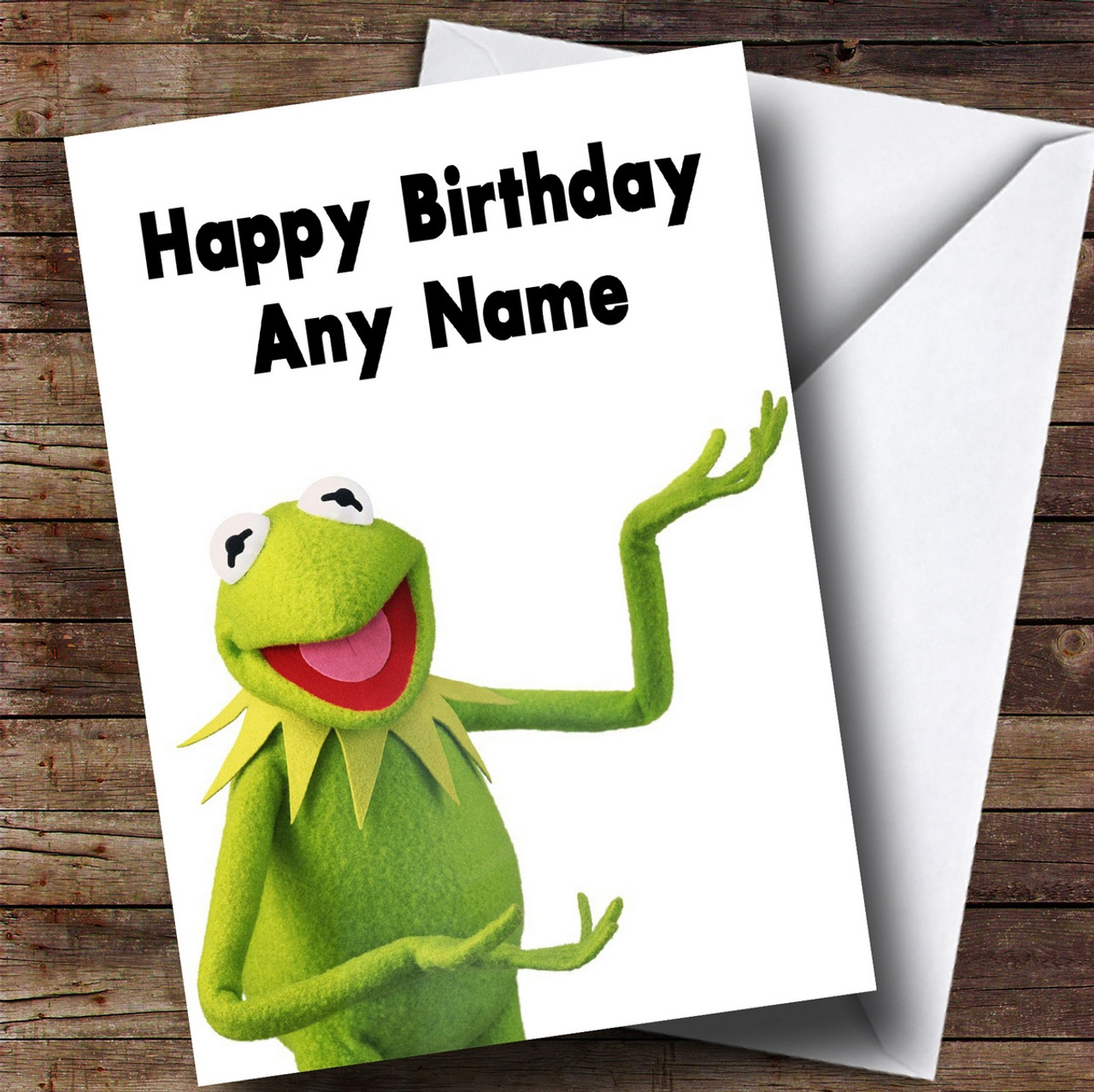 Personalised kermit the frog muppets childrens birthday card the personalised kermit the frog muppets childrens birthday card m4hsunfo