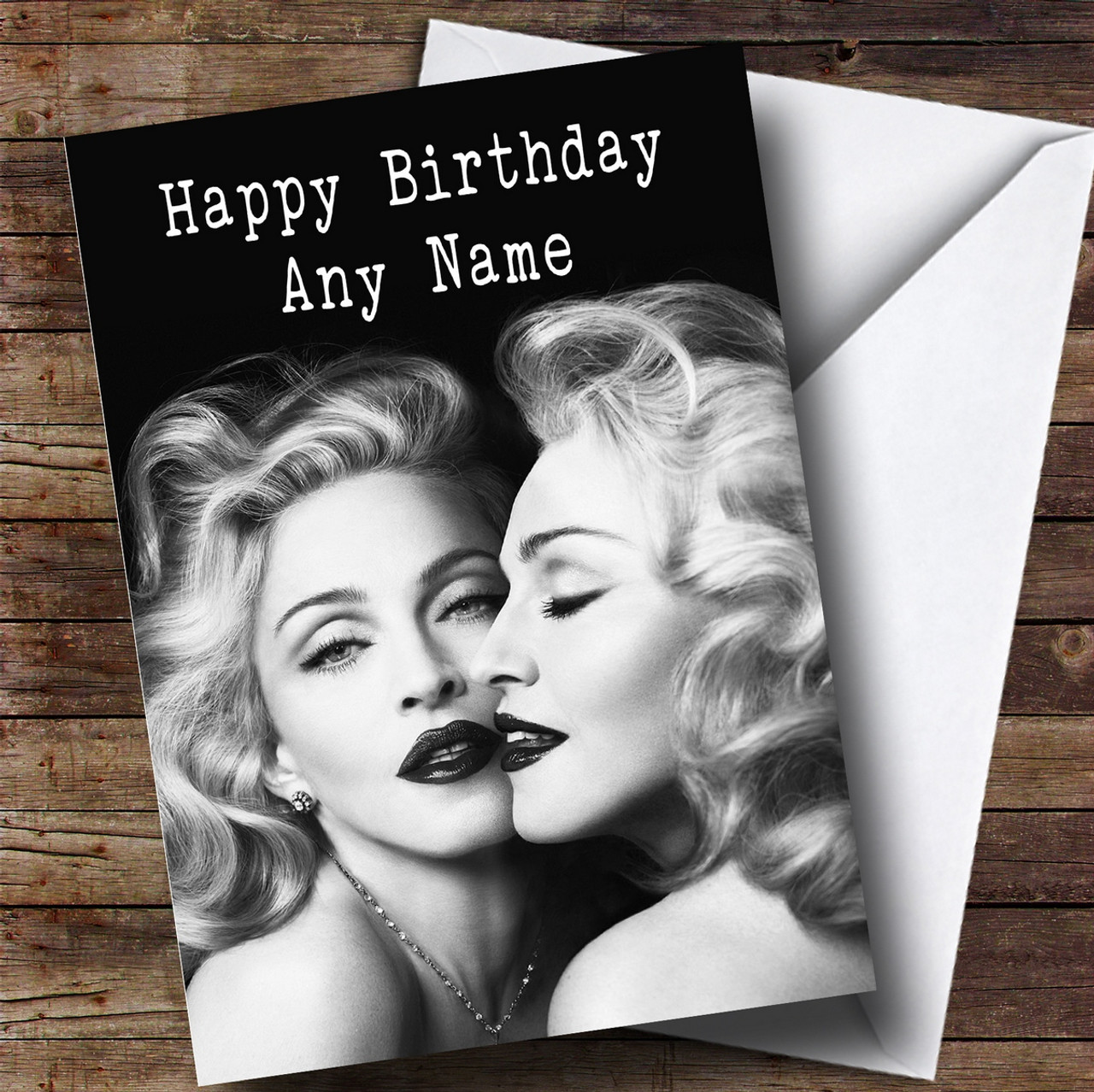 Personalised madonna celebrity birthday card the card zoo personalised madonna celebrity birthday card bookmarktalkfo Image collections