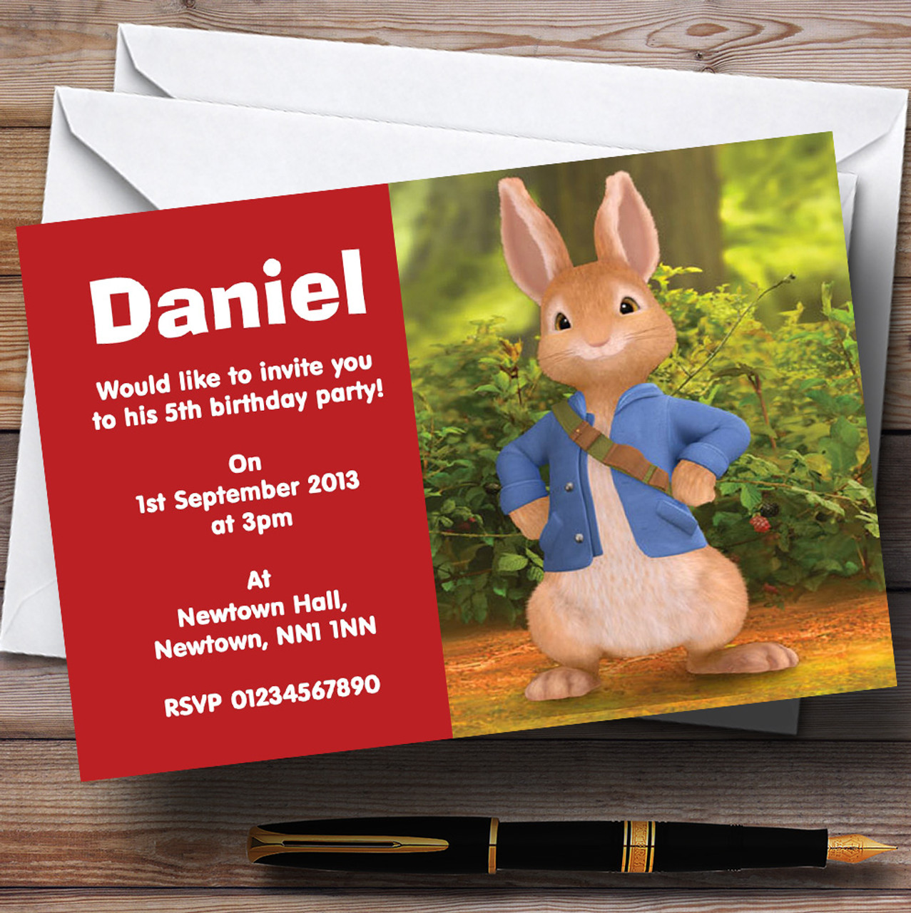 Peter Rabbit Personalised Children\'s Birthday Party Invitations ...