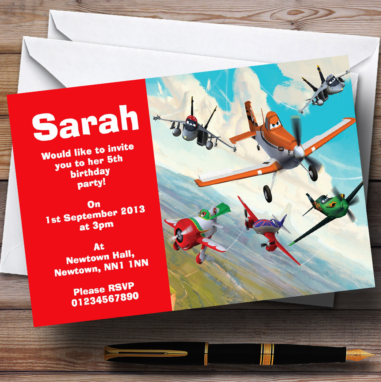Planes Disney Personalised Children\'s Birthday Party Invitations ...
