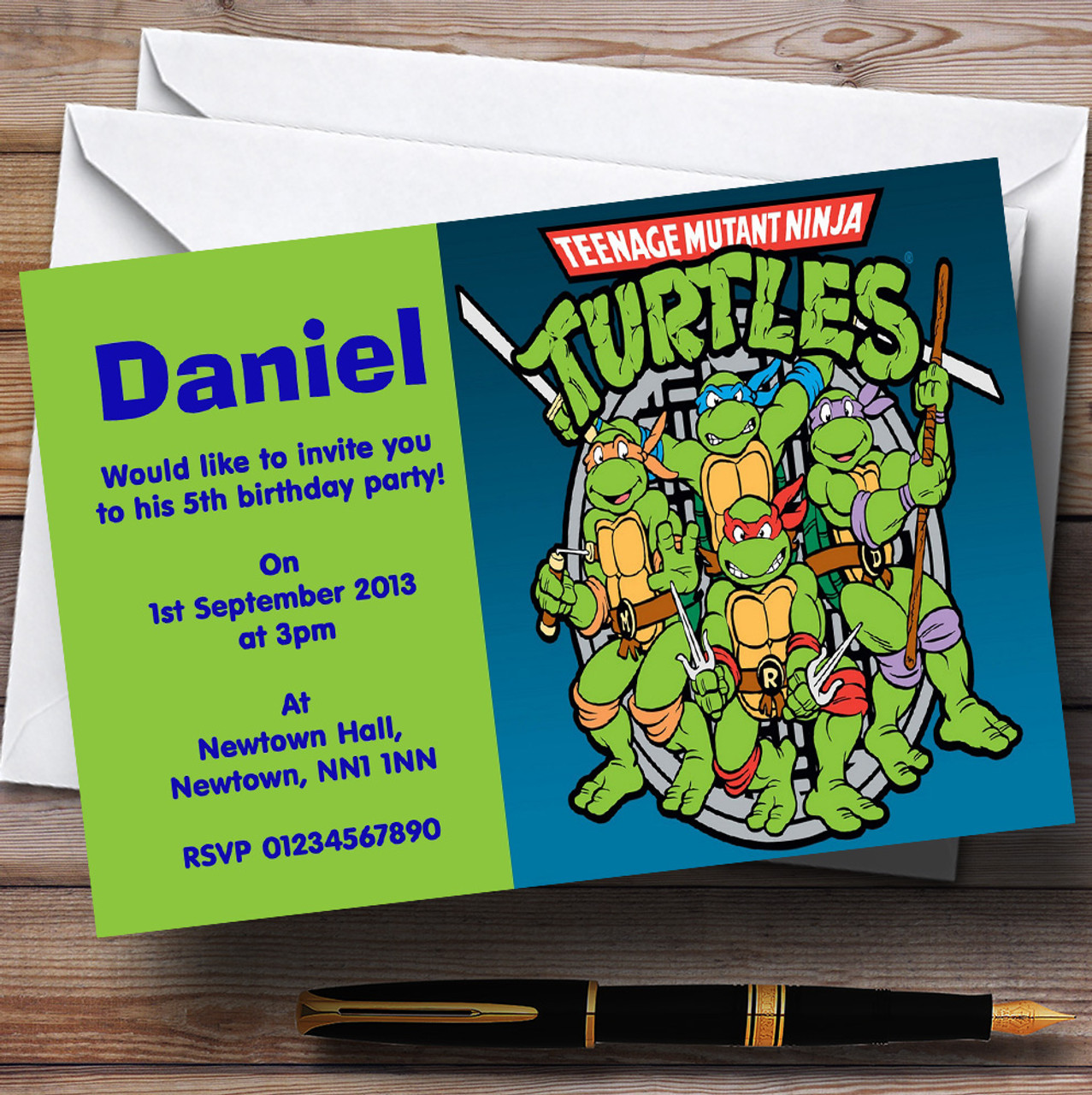 Teenage Mutant Ninja Turtles Personalised Children\'s Birthday Party ...