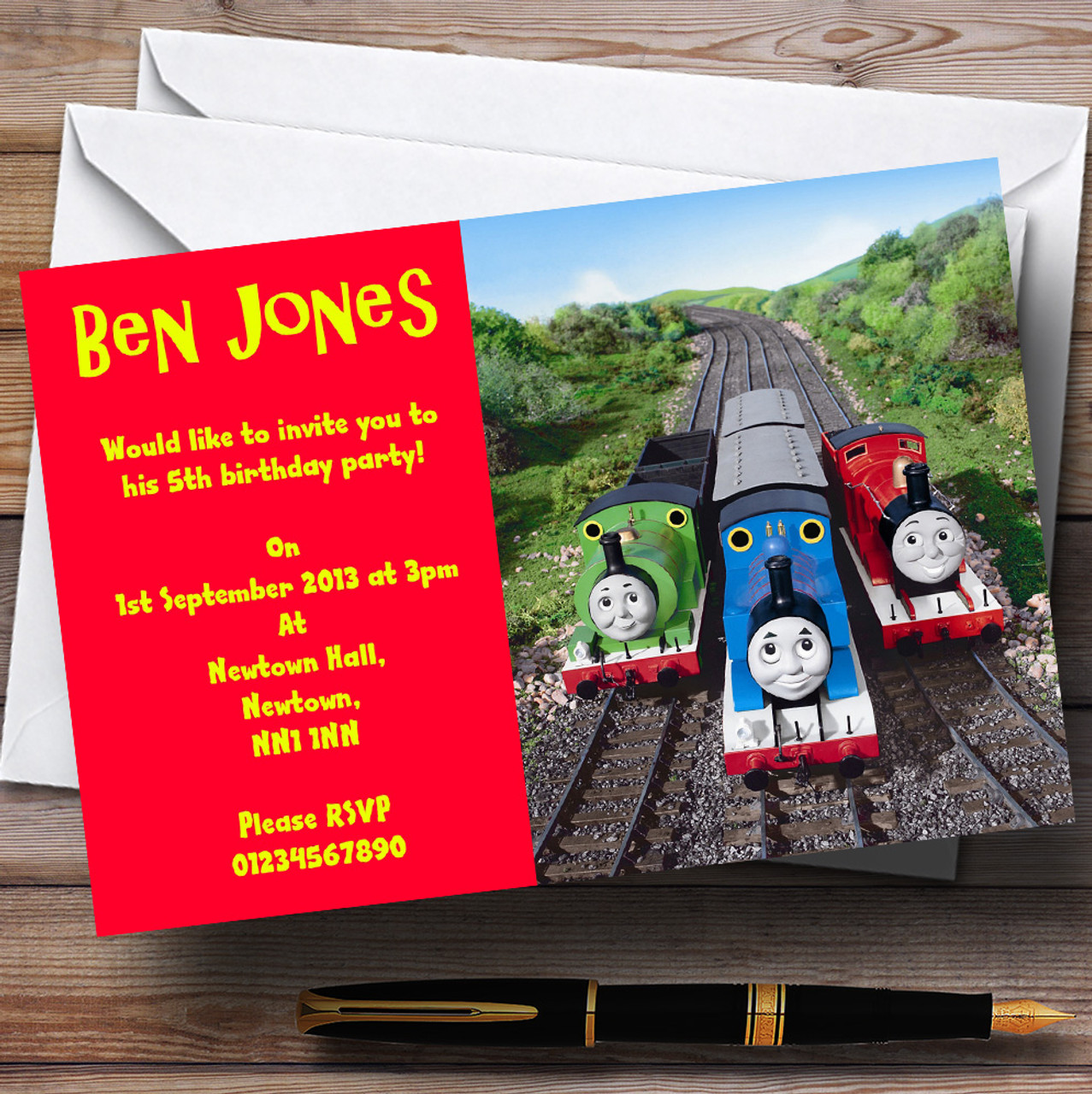 Thomas The Tank & Friends Personalised Children\'s Party Invitations ...