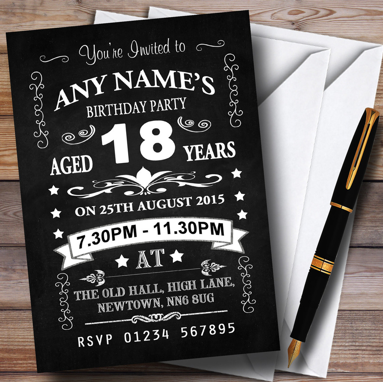 Personalised Party Invitations - Birthday Party Invitations ...