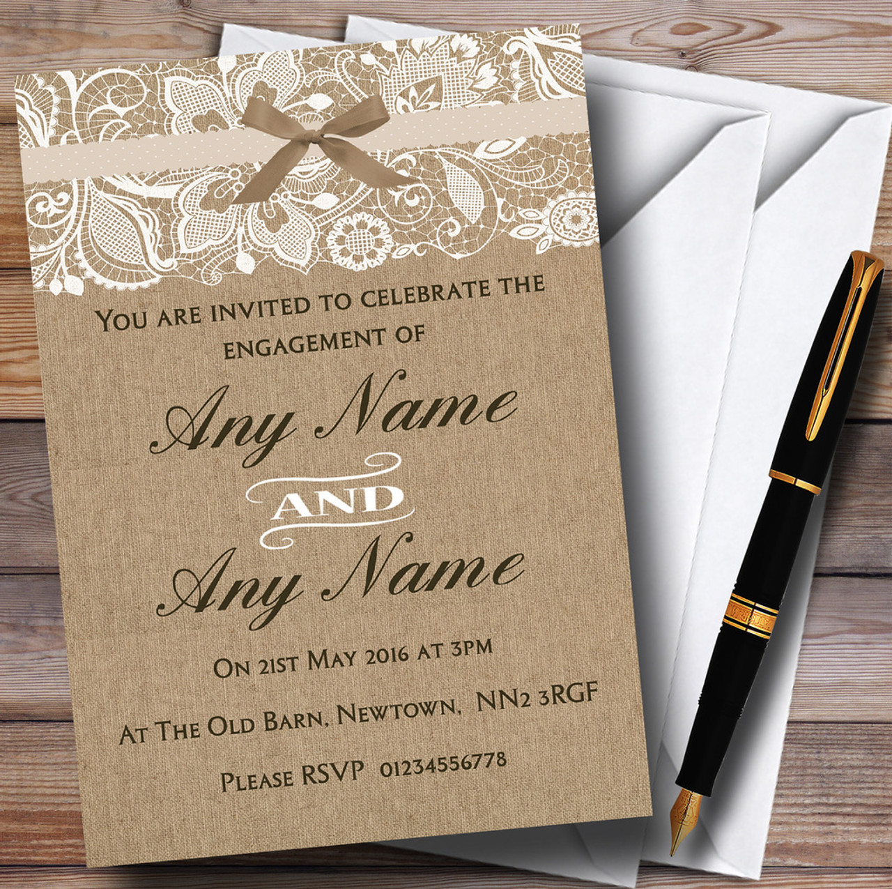 Personalised Party Invitations - Engagement Party Invitations ...