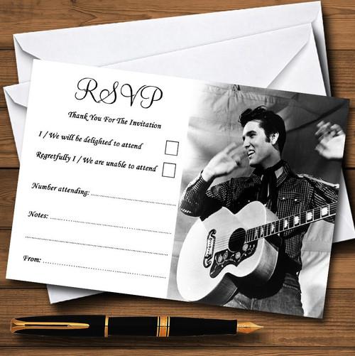 Elvis Presley Personalised RSVP Cards The Card Zoo