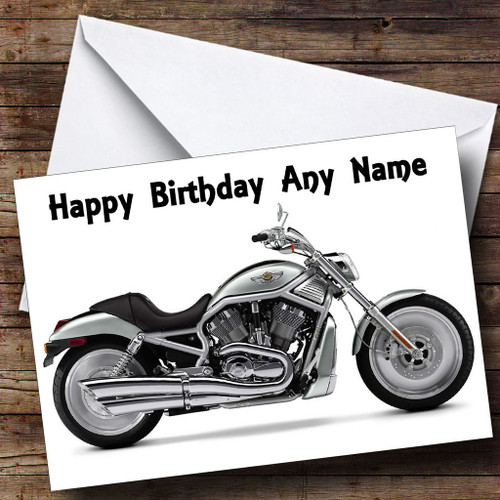 Harley davidson motorcycle personalised birthday card the card zoo harley davidson motorbike personalised birthday card bookmarktalkfo Image collections