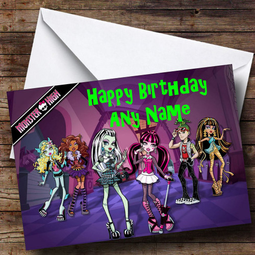 Monster High Dolls Personalised Birthday Card The Card Zoo